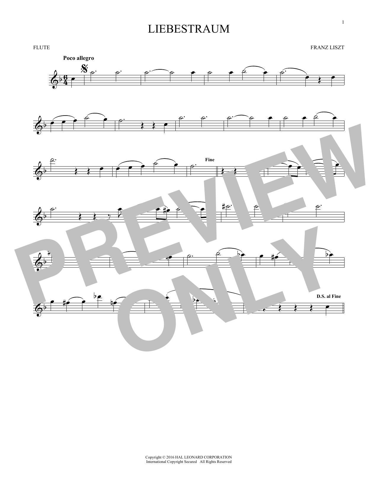 Liebestraum (Dream Of Love) (Flute Solo)