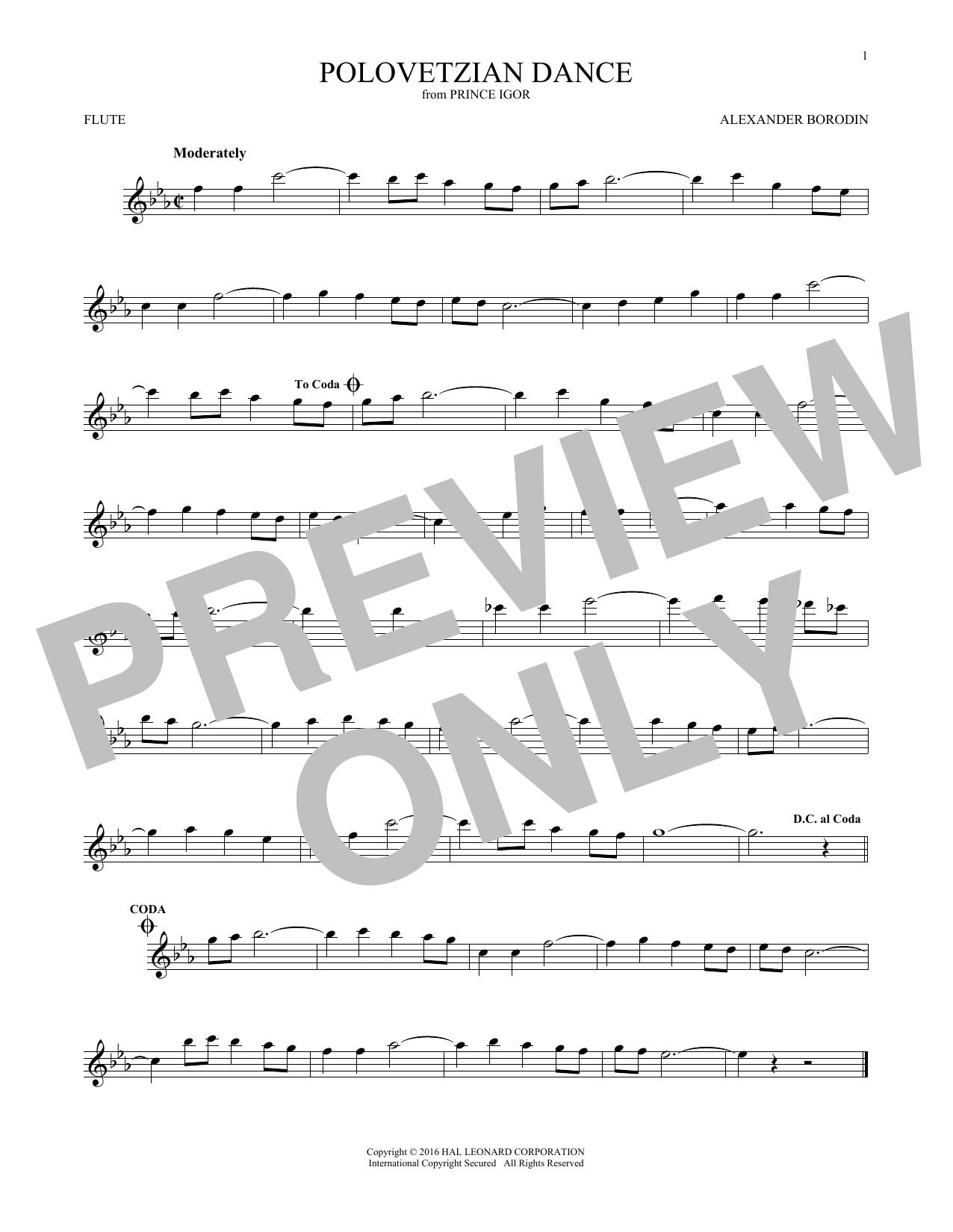 Polovetsian Dances (Flute Solo)