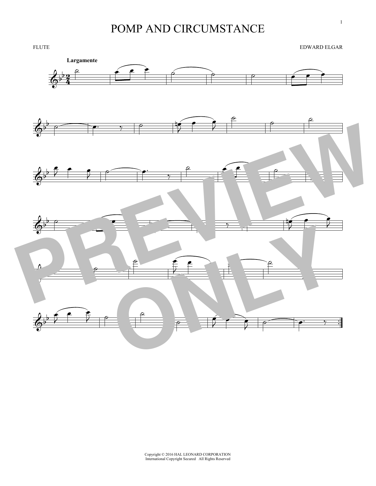Pomp And Circumstance (Flute Solo)