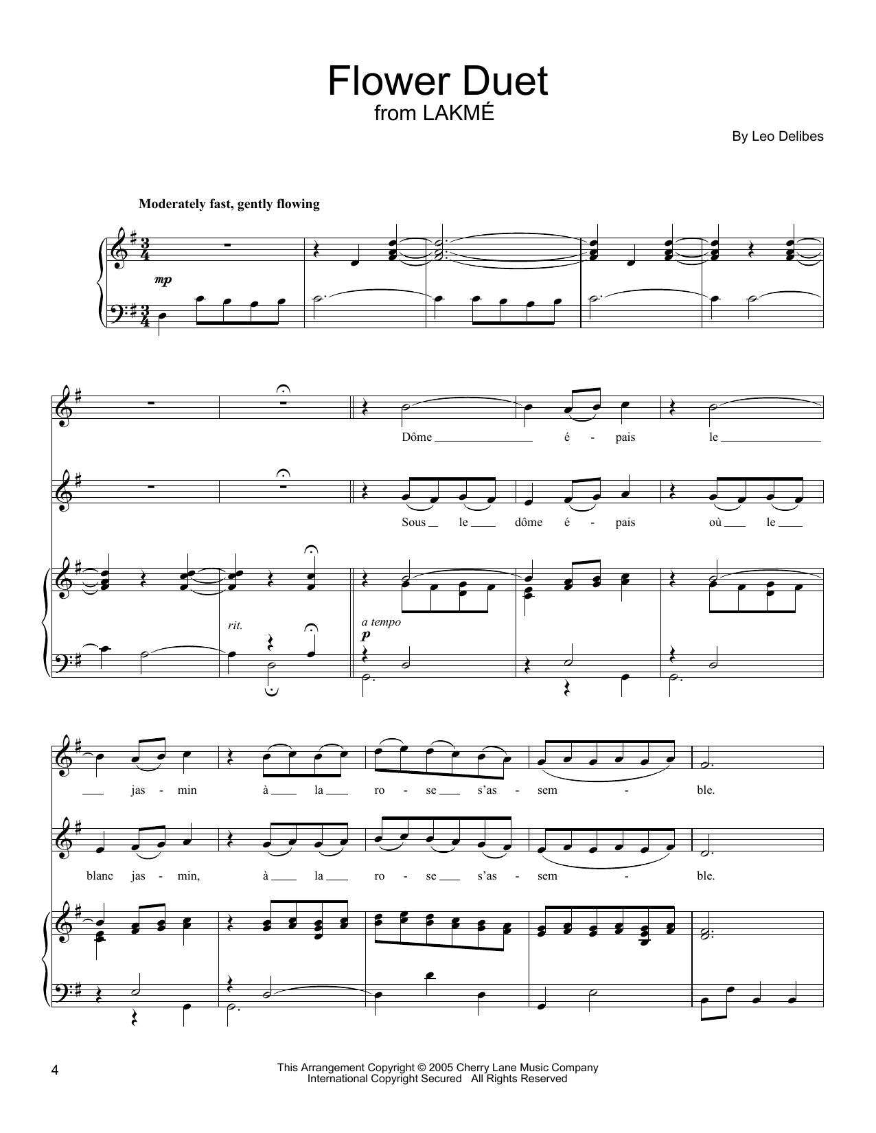 Flower Duet Sheet Music
