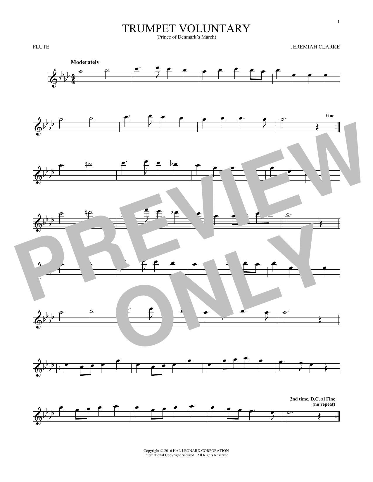 Trumpet Voluntary (Flute Solo)