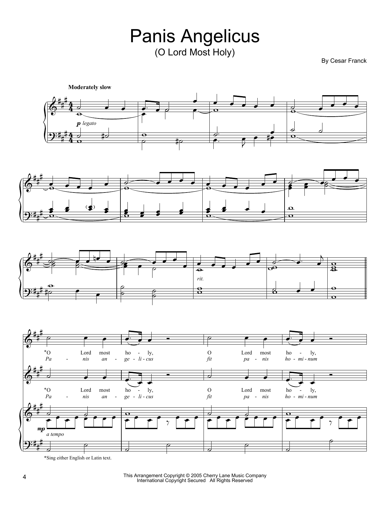Panis Angelicus (Vocal Duet)