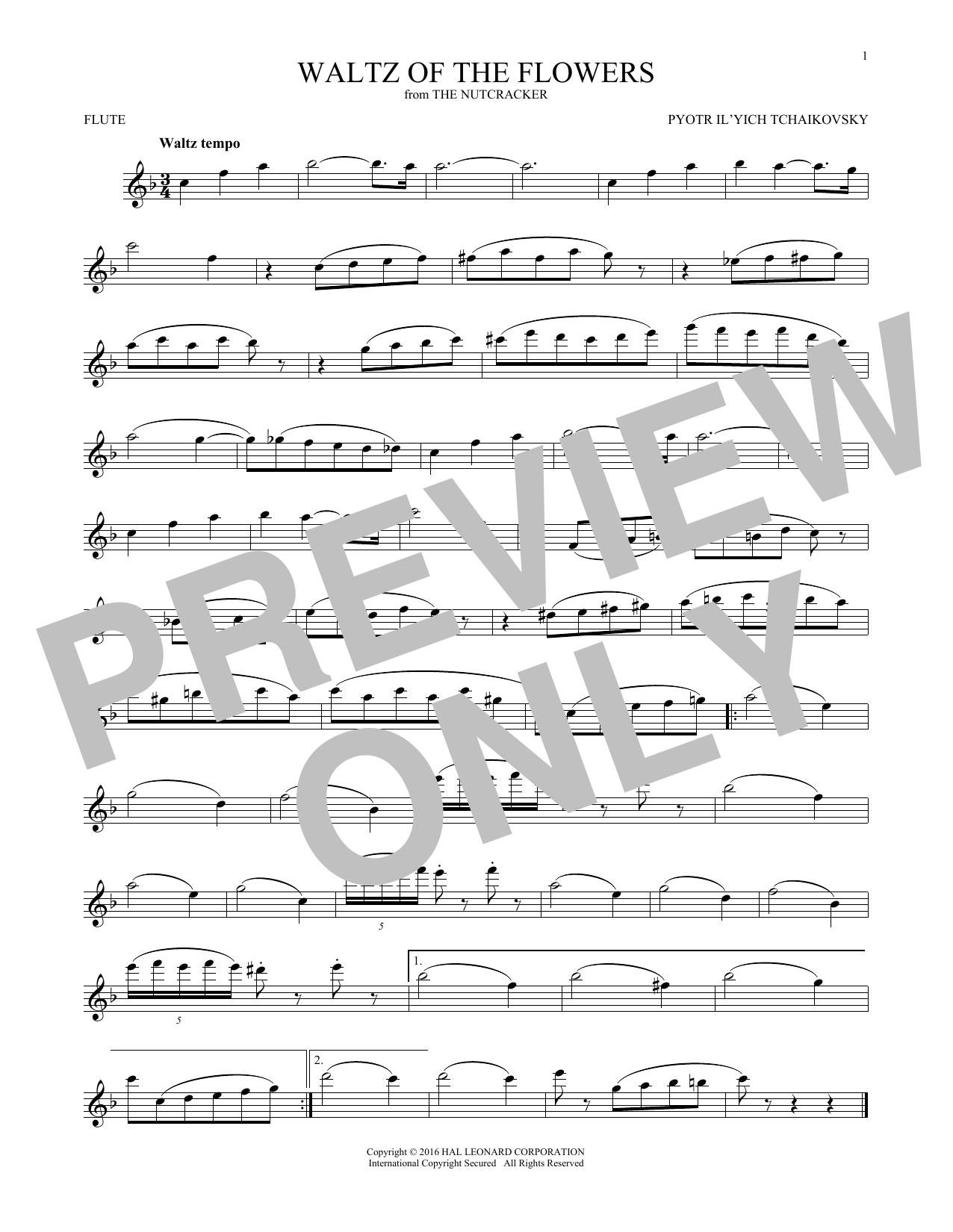 Waltz Of The Flowers, Op. 71a (Flute Solo)