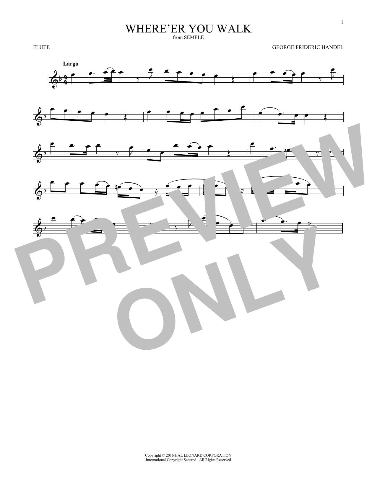 Where E'er You Walk (Flute Solo)