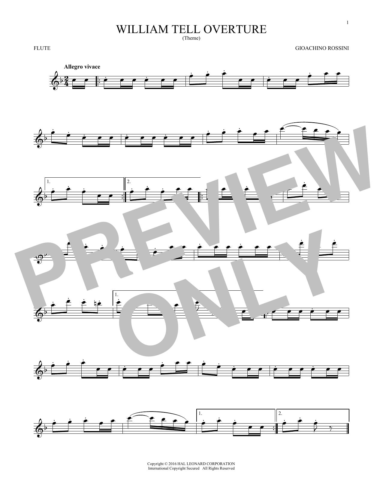 William Tell Overture (Flute Solo)