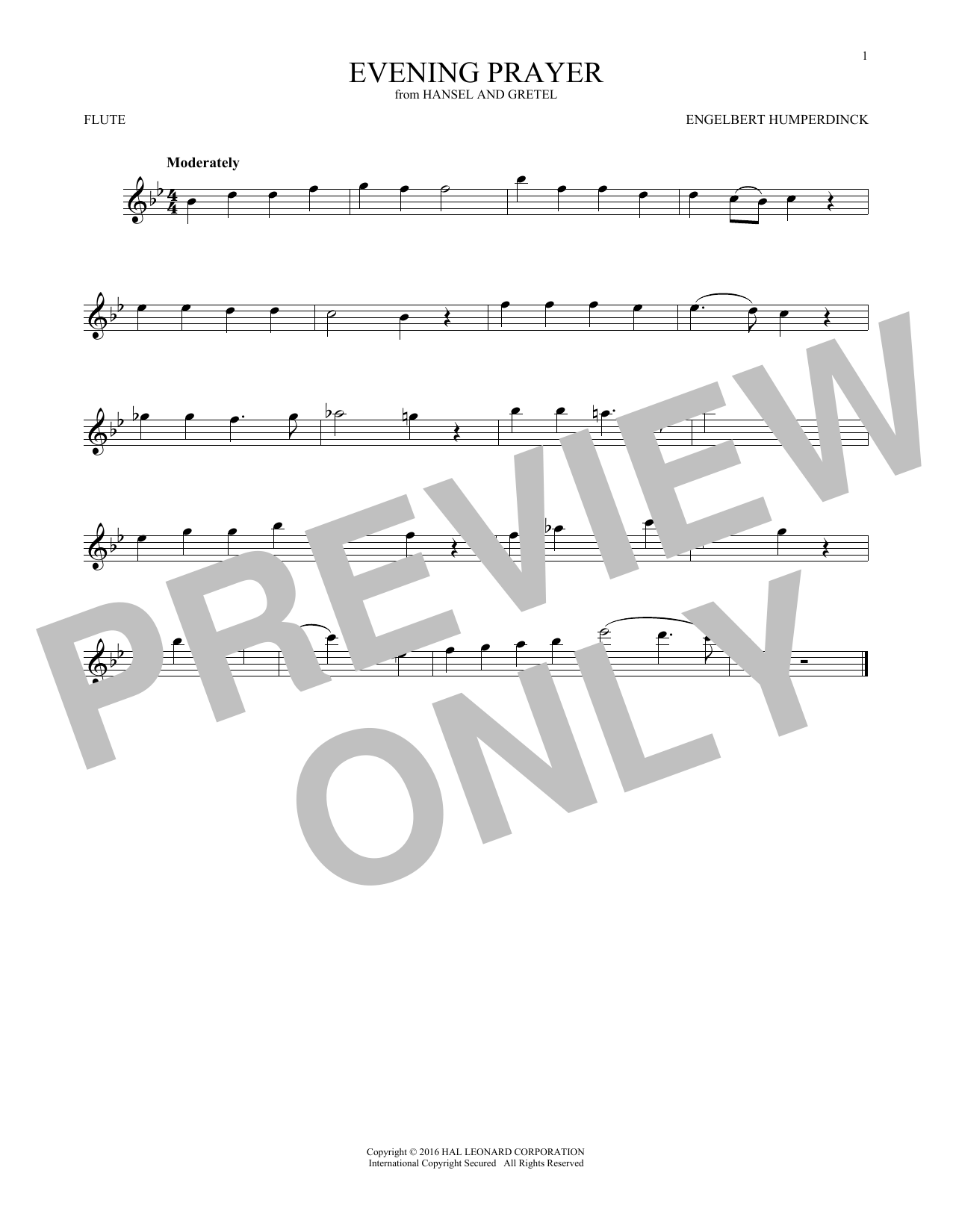 Evening Prayer (Flute Solo)