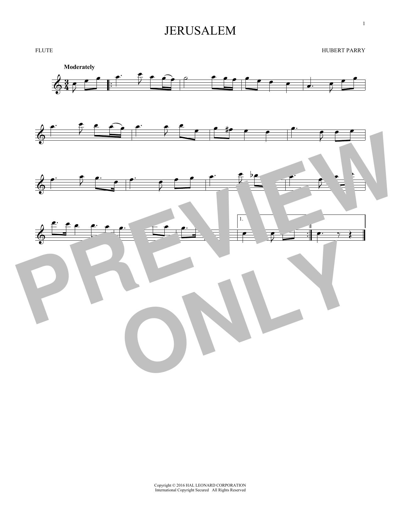 Jerusalem (Flute Solo)