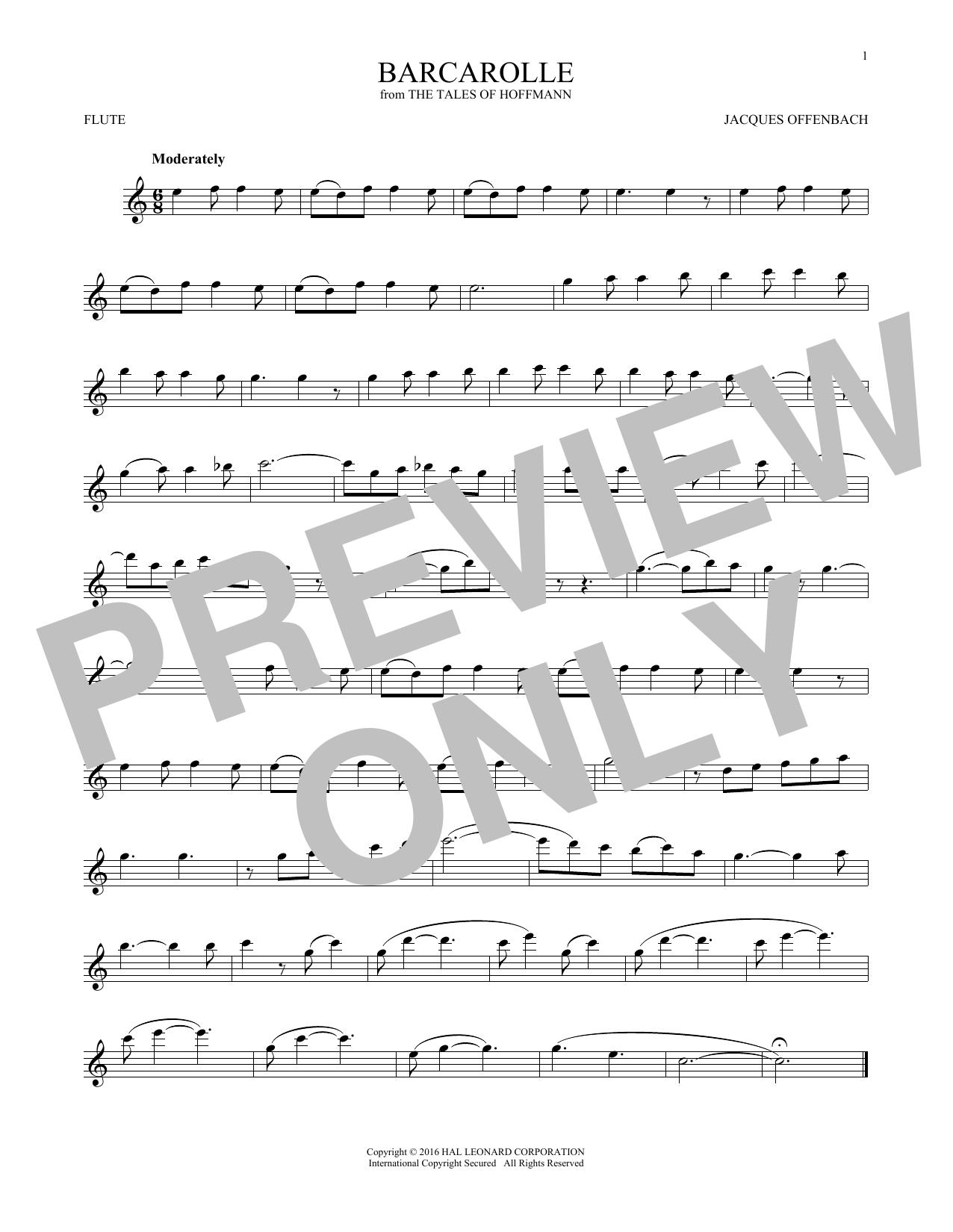 Barcarolle (Flute Solo)