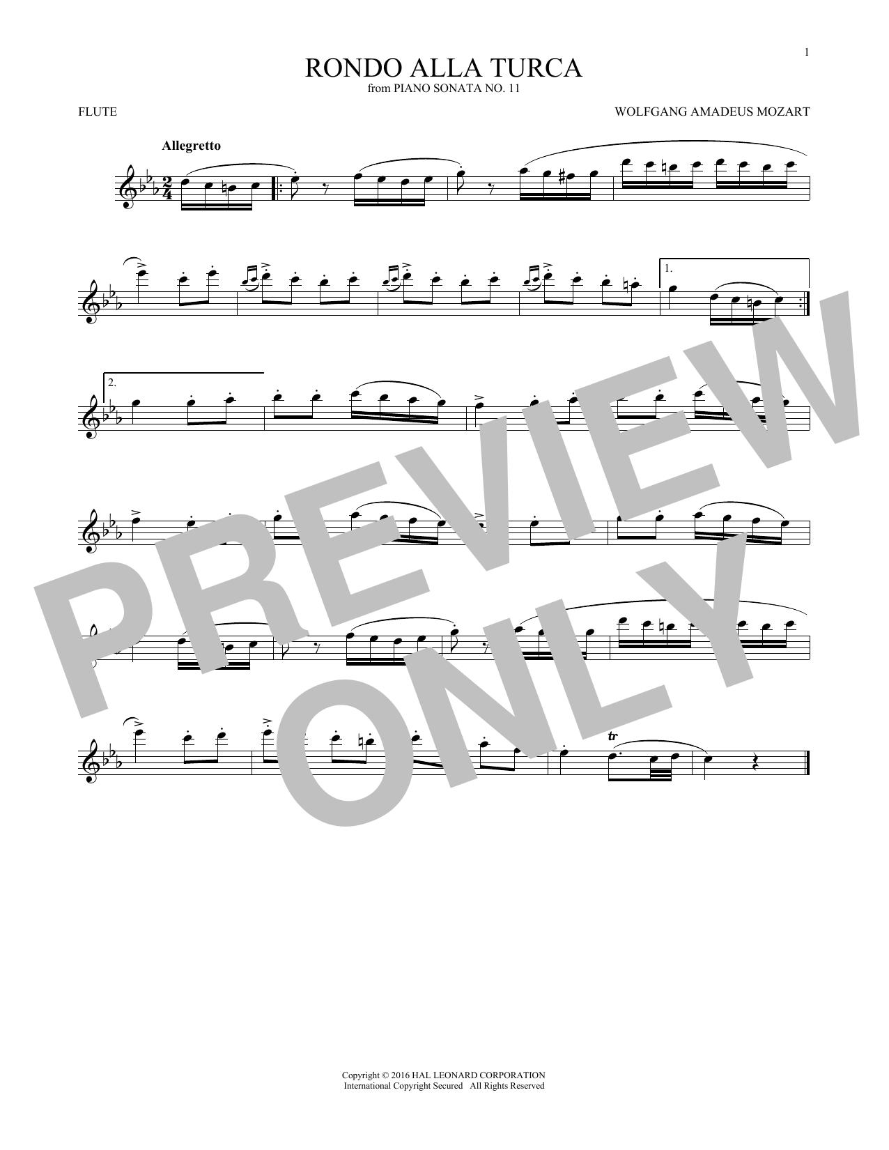 Rondo Alla Turca (Flute Solo)