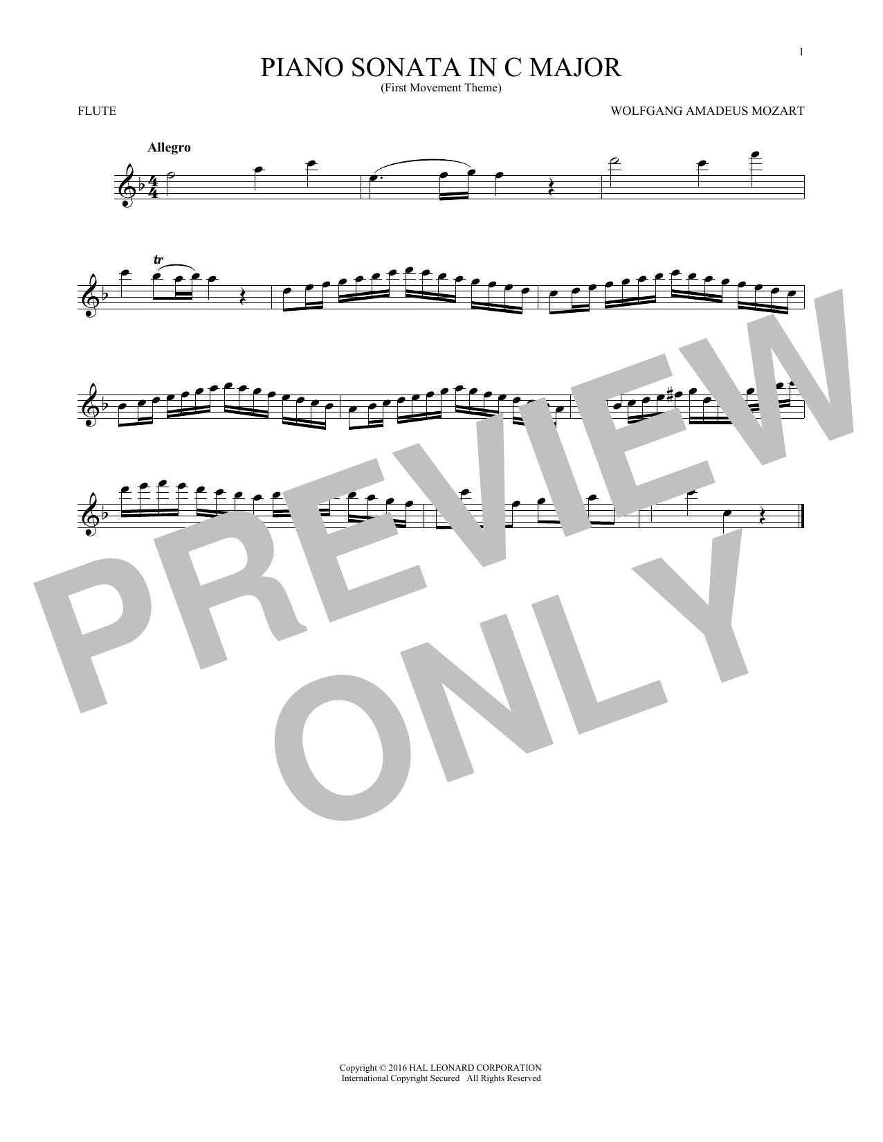 Piano Sonata In C Major (Flute Solo)