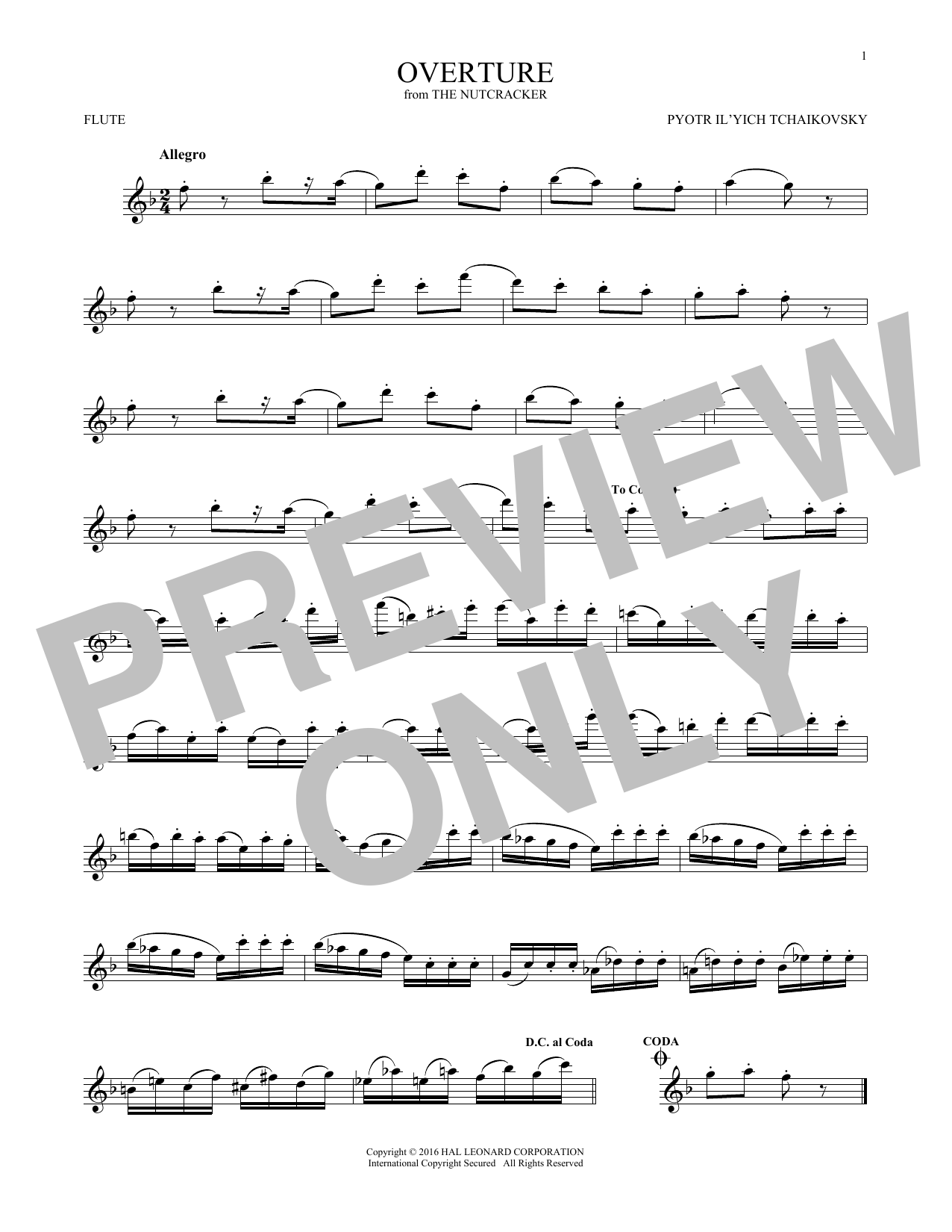 Overture (Flute Solo)
