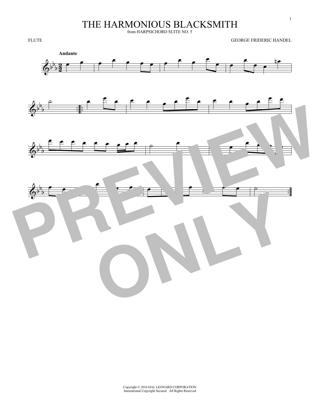 Harmonious Blacksmith (Flute Solo)