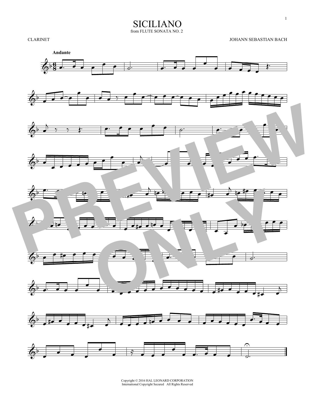 Siciliano (Clarinet Solo)