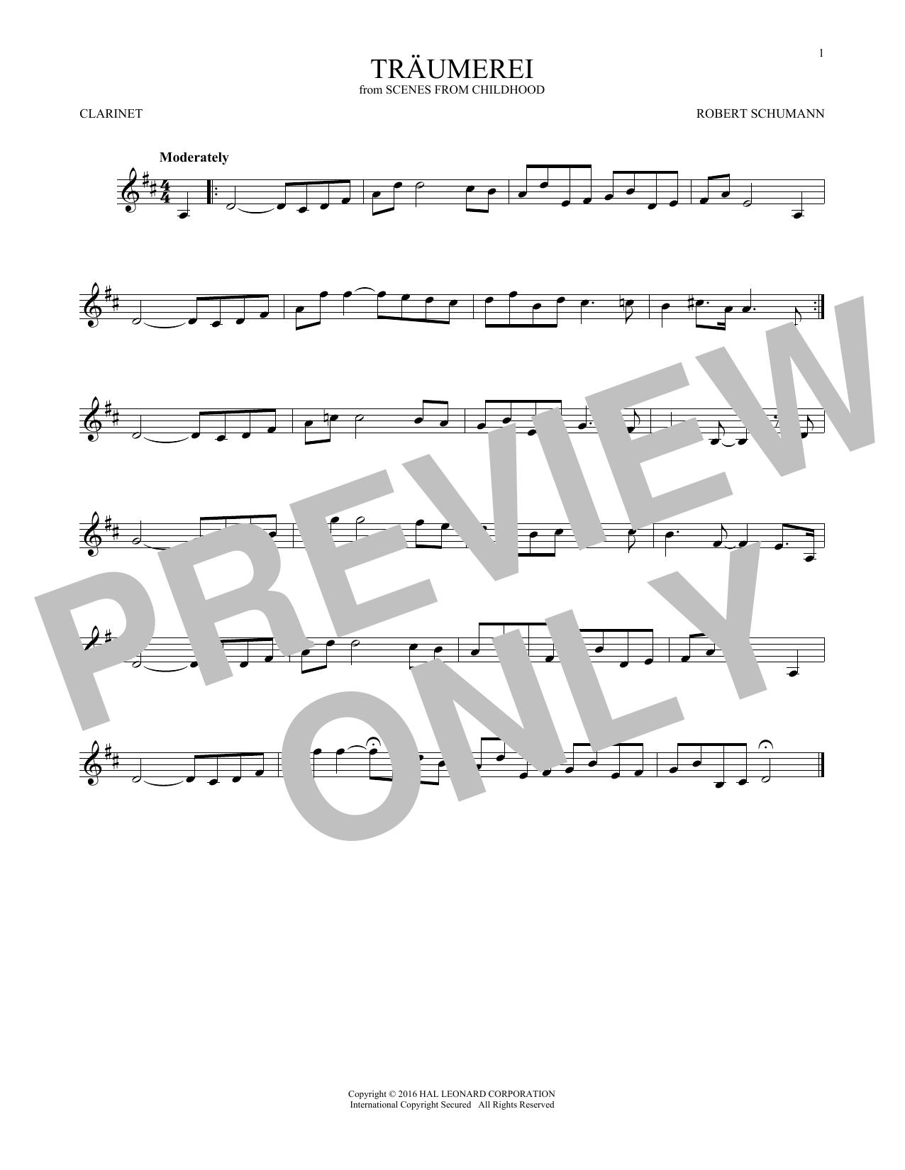 Traumerei (Clarinet Solo)