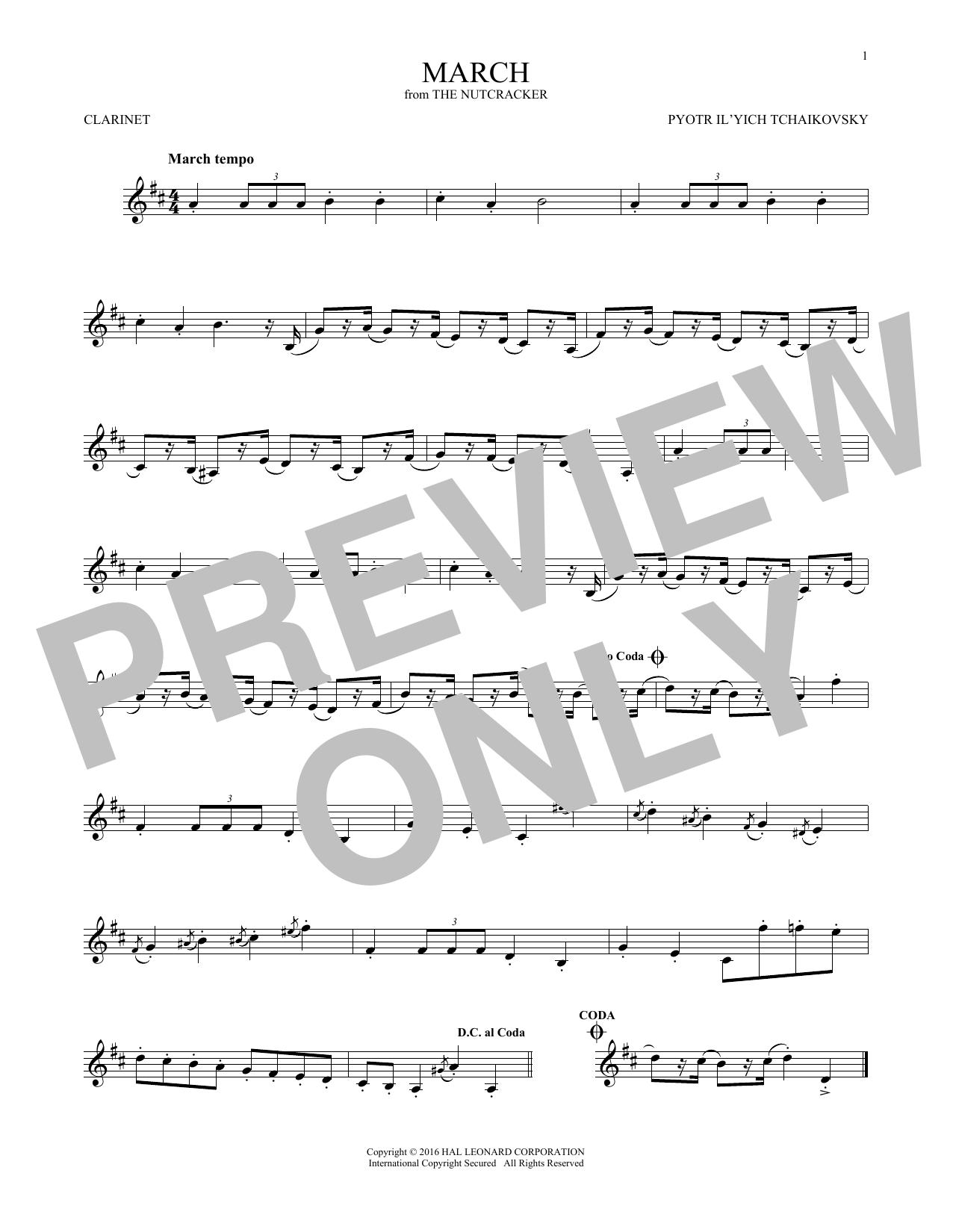 March (Clarinet Solo)