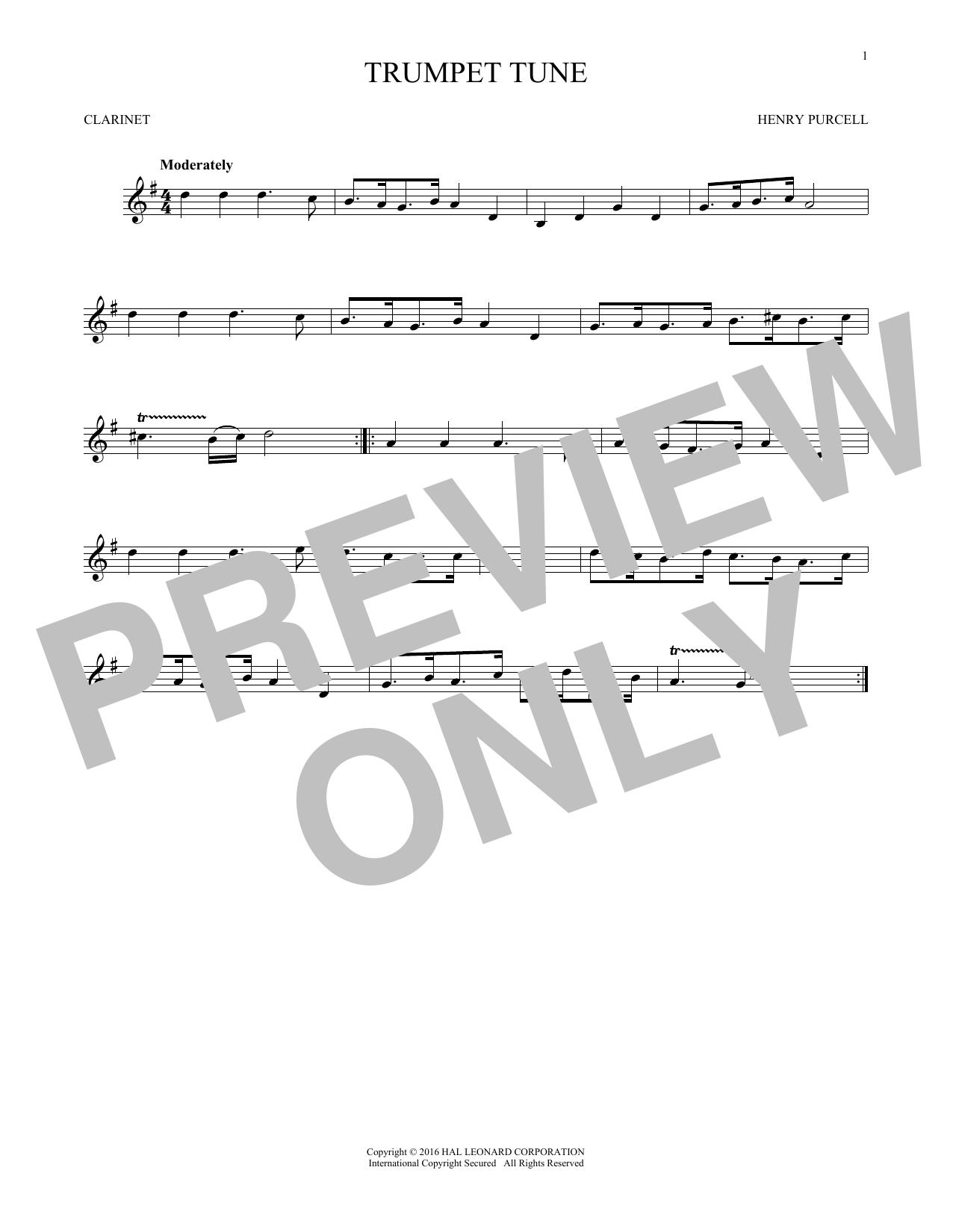 Trumpet Tune (Clarinet Solo)