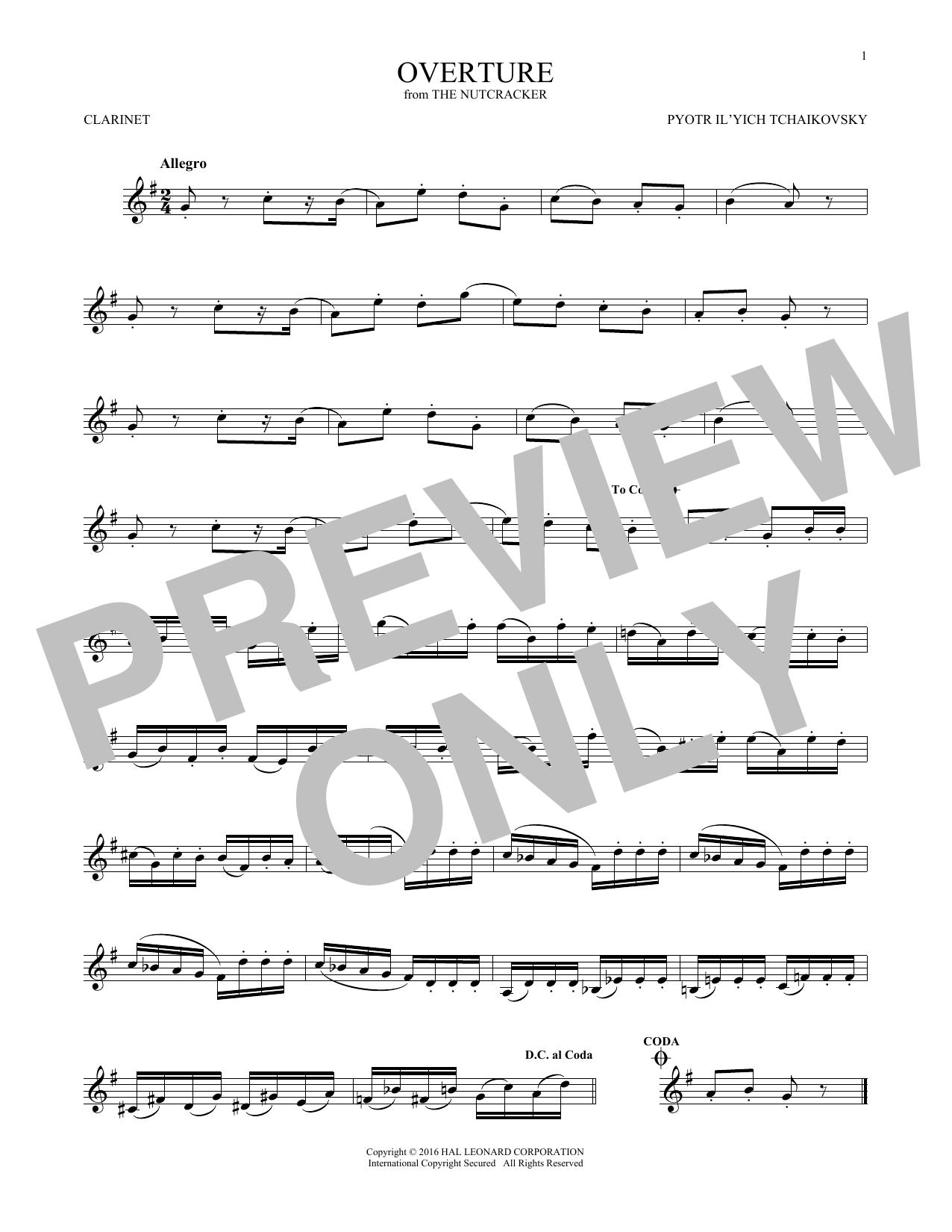 Overture (Clarinet Solo)