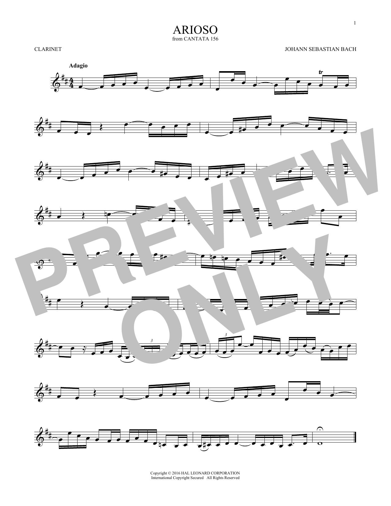 Arioso (Clarinet Solo)