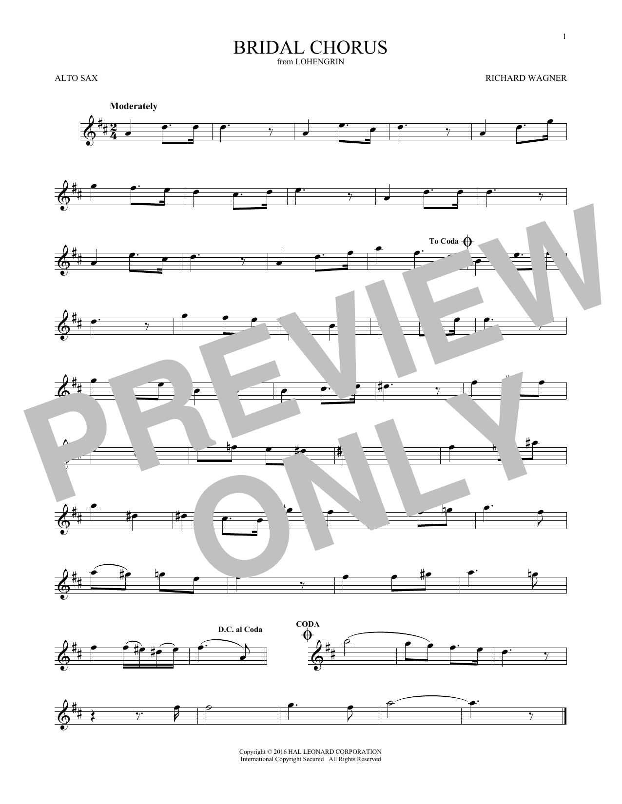 Bridal Chorus (Alto Sax Solo)