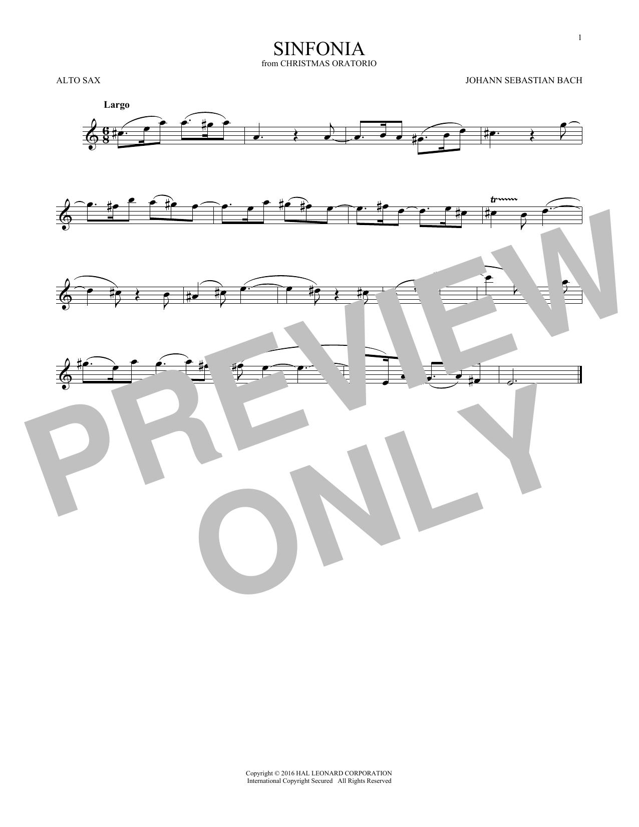 Sinfonia (Alto Sax Solo)