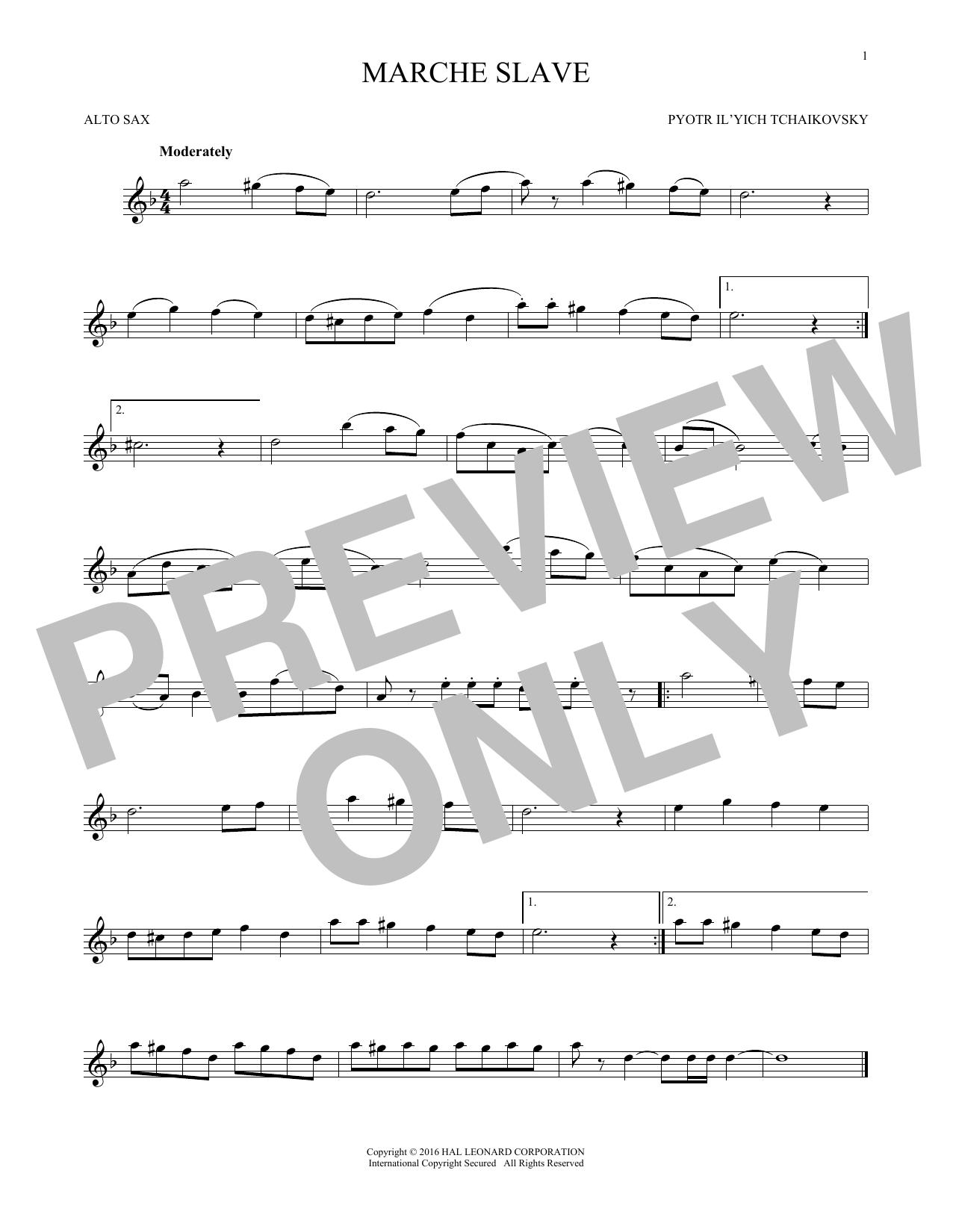 Marche Slav, Op. 31 (Alto Sax Solo)