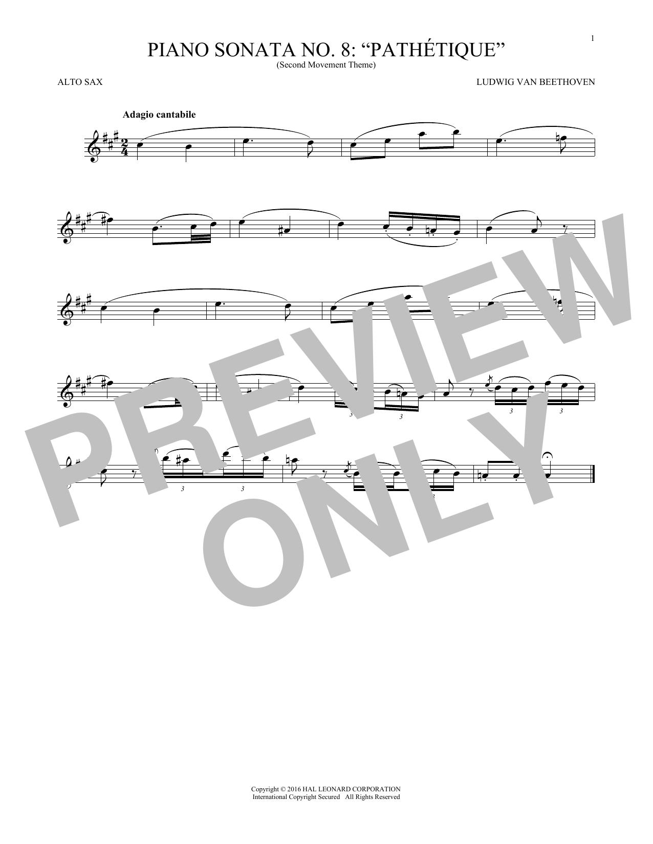 Adagio Cantabile, Op. 13 (Alto Sax Solo)