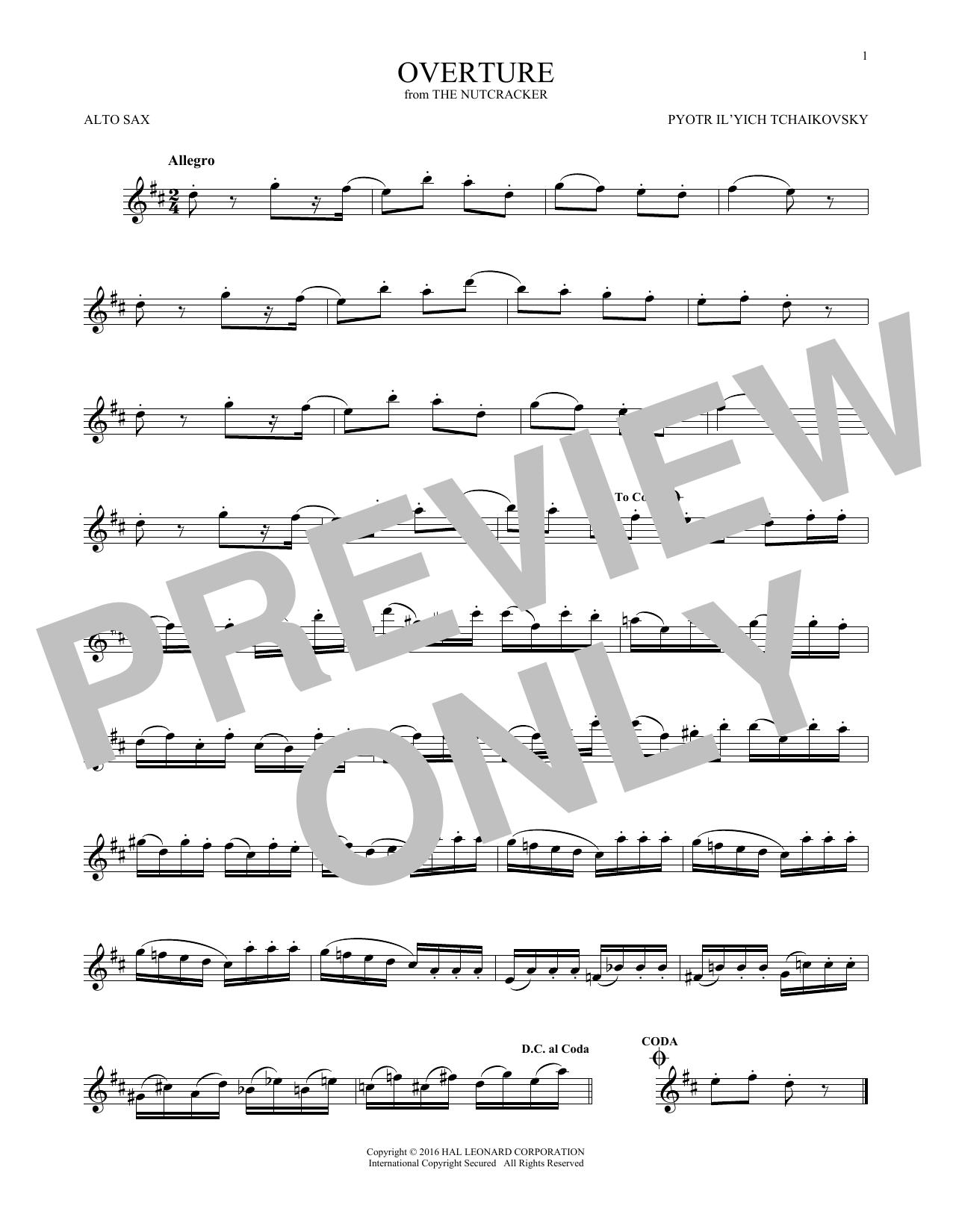 Overture (Alto Sax Solo)