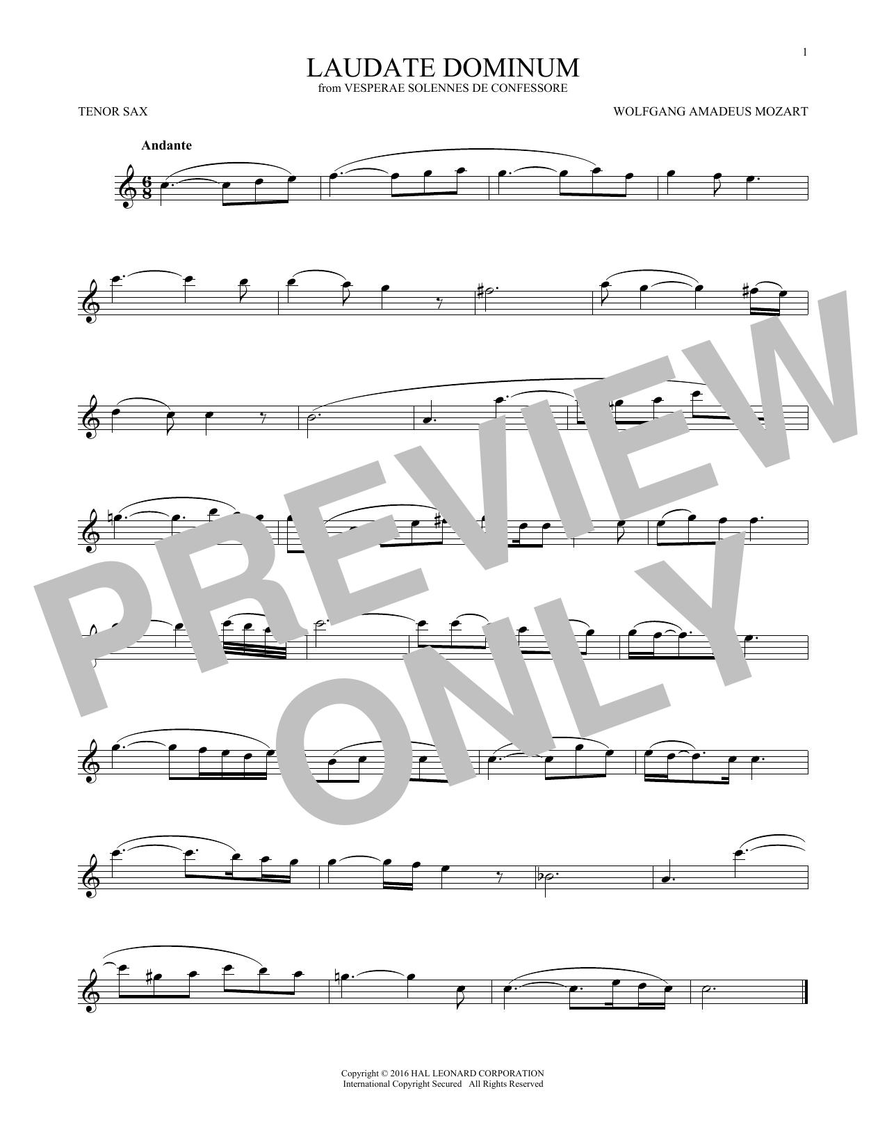 Laudate Dominum (Tenor Sax Solo)
