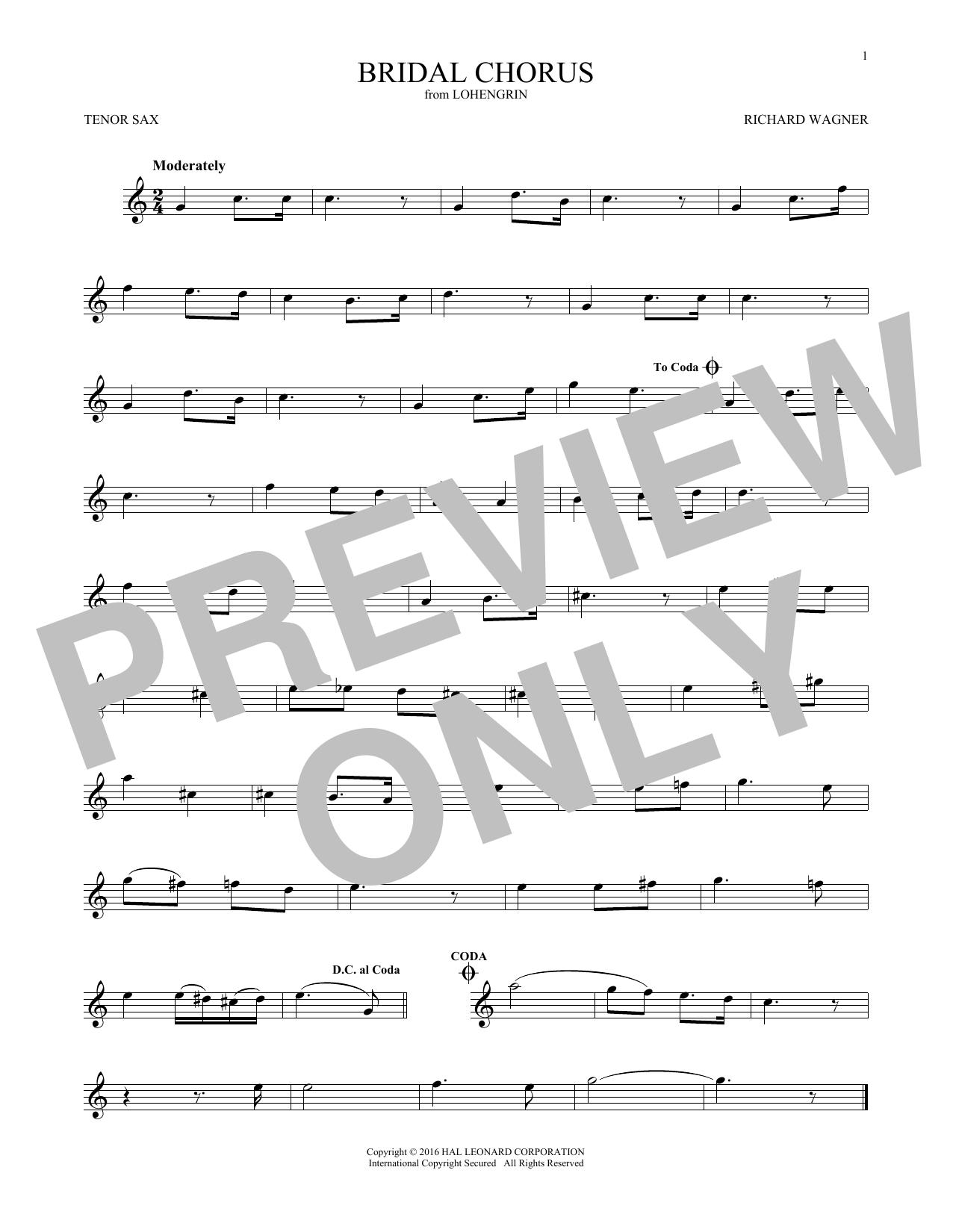 Bridal Chorus (Tenor Sax Solo)