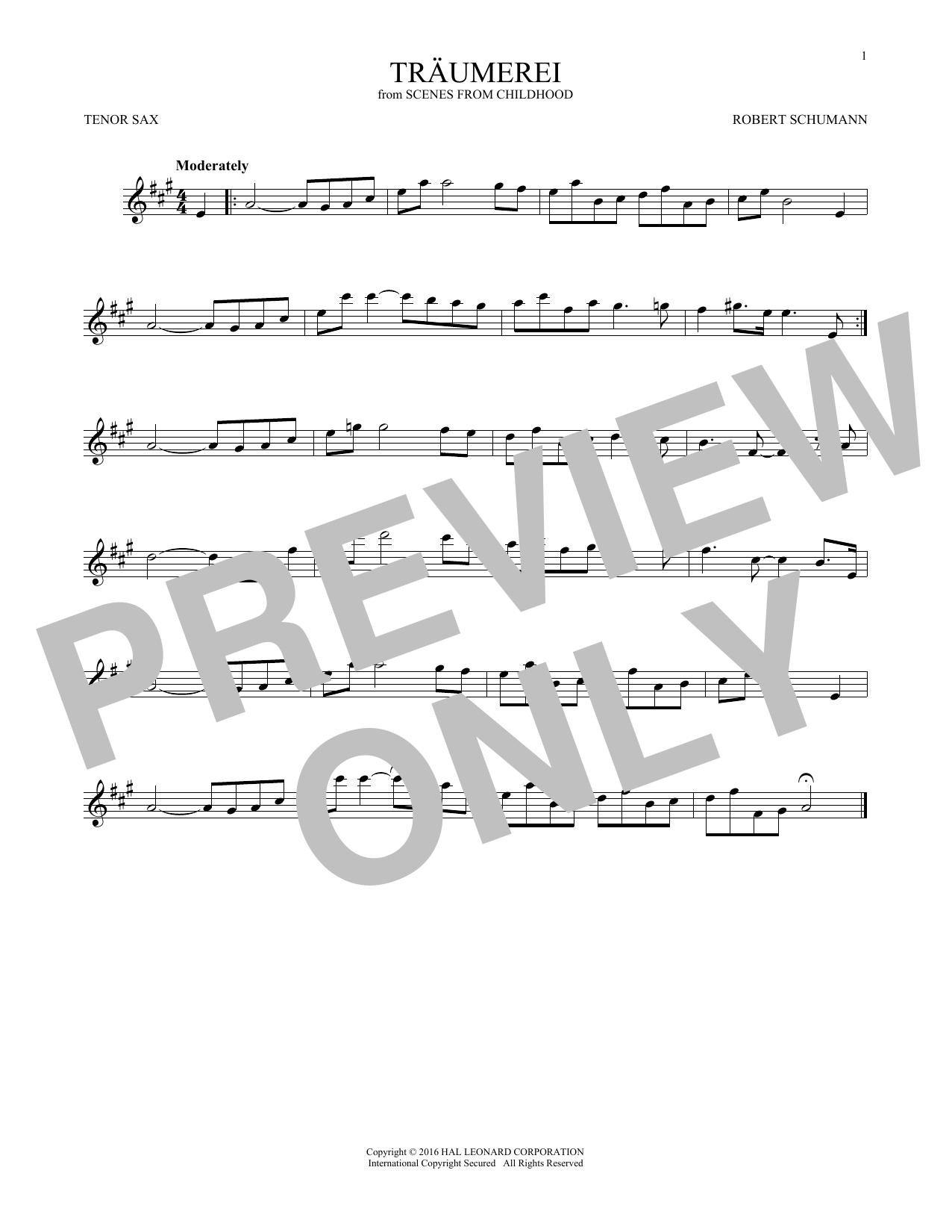 Traumerei (Tenor Sax Solo)