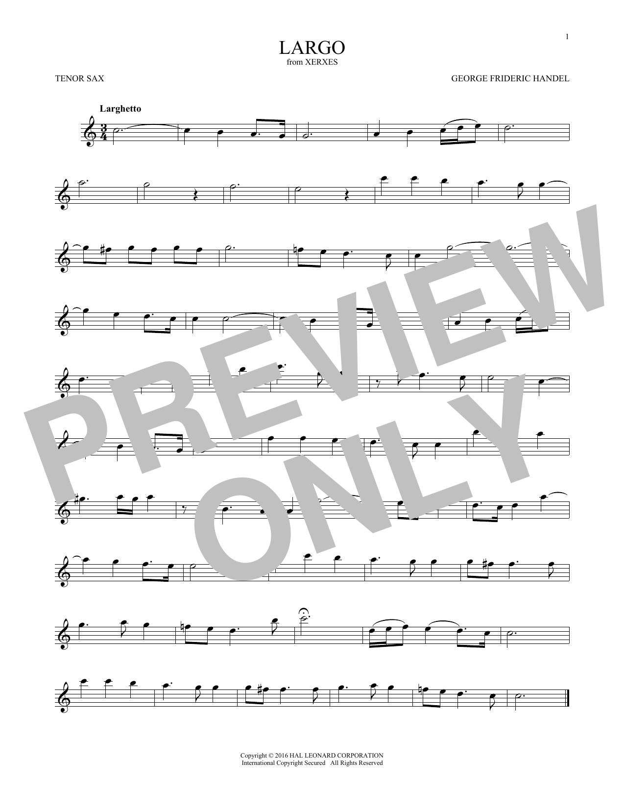George Frideric Handel: Largo