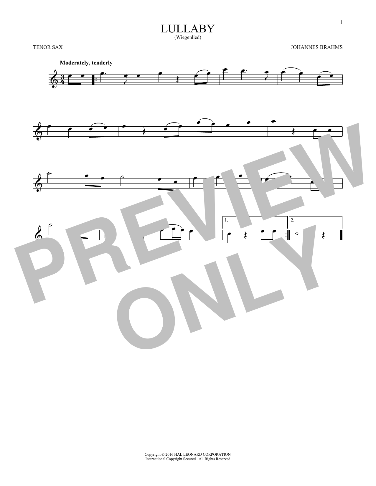 Lullaby (Tenor Sax Solo)