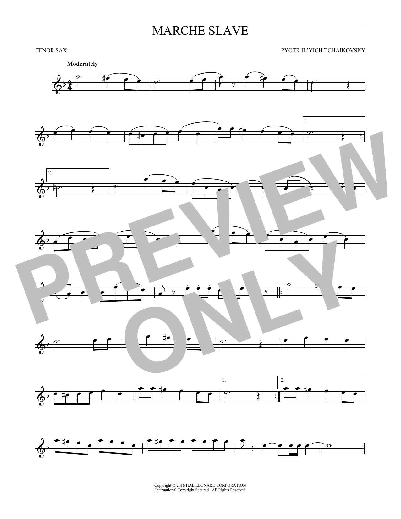 Marche Slav, Op. 31 (Tenor Sax Solo)