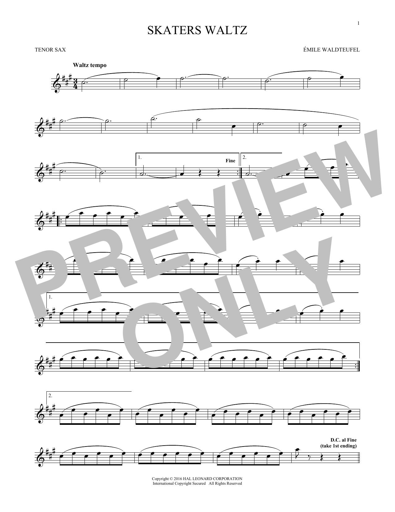 The Skaters (Waltz) (Tenor Sax Solo)