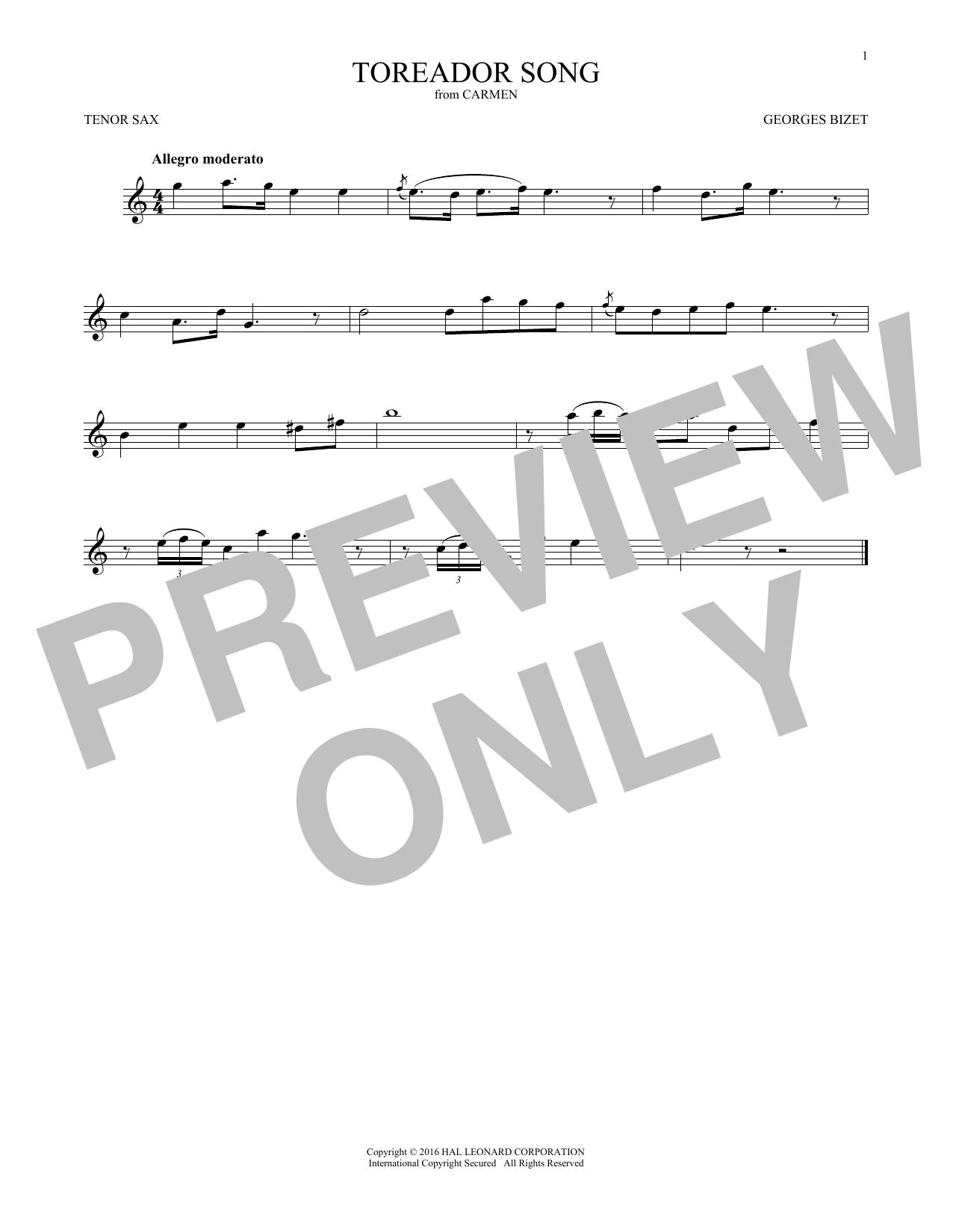 Toreador Song (Tenor Sax Solo)