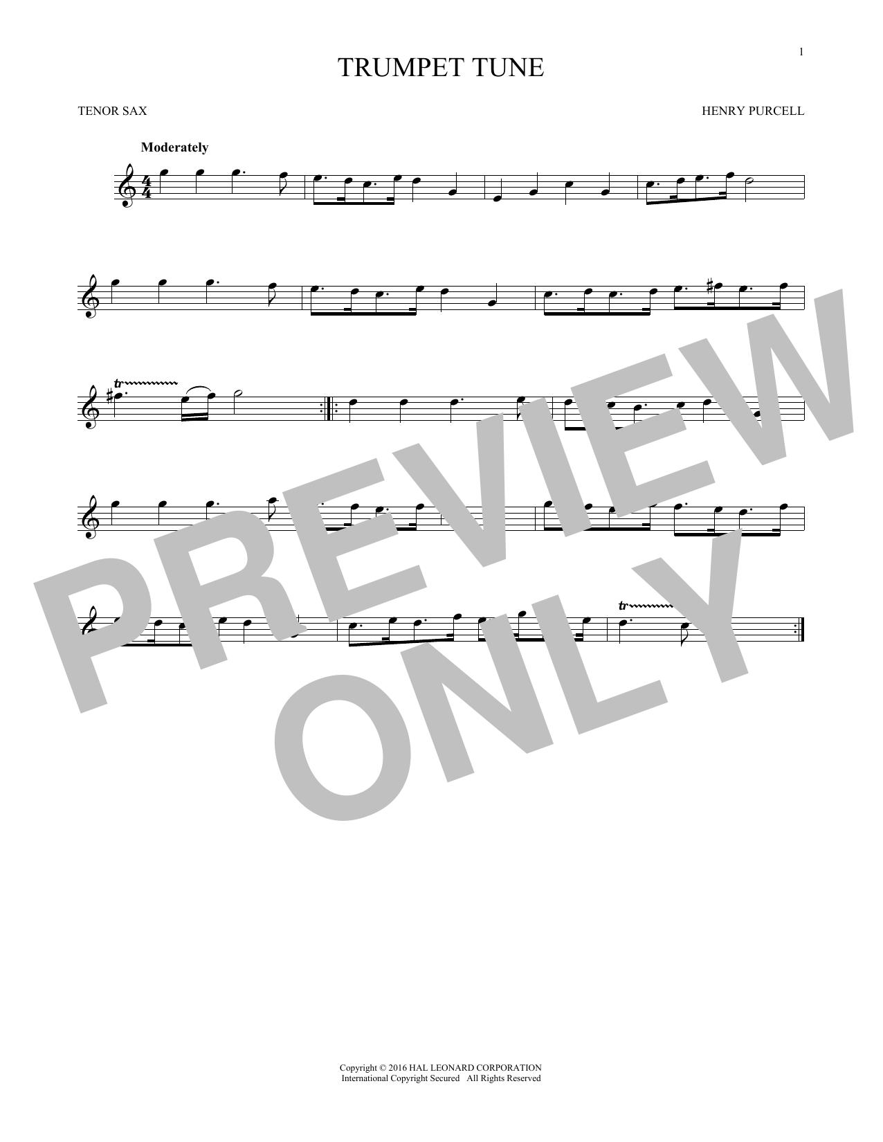Trumpet Tune (Tenor Sax Solo)