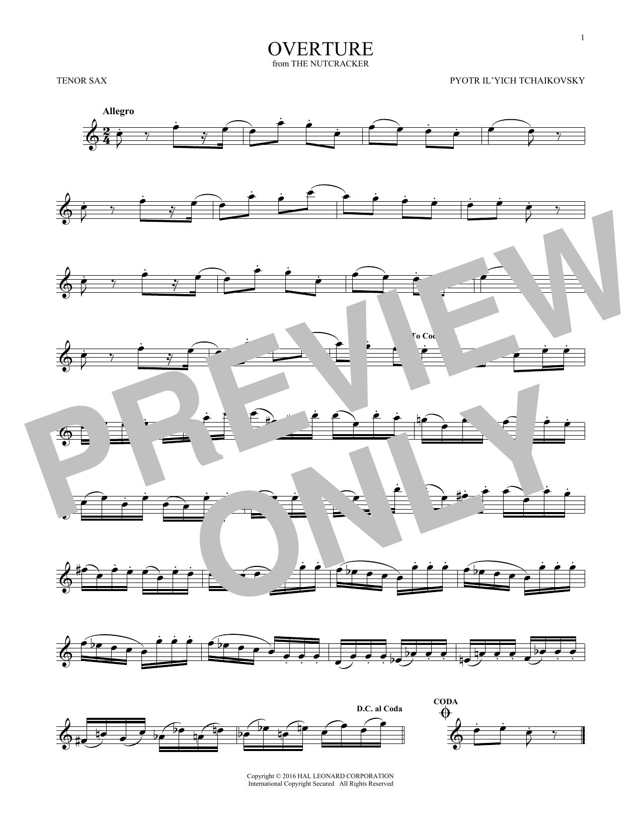 Overture (Tenor Sax Solo)
