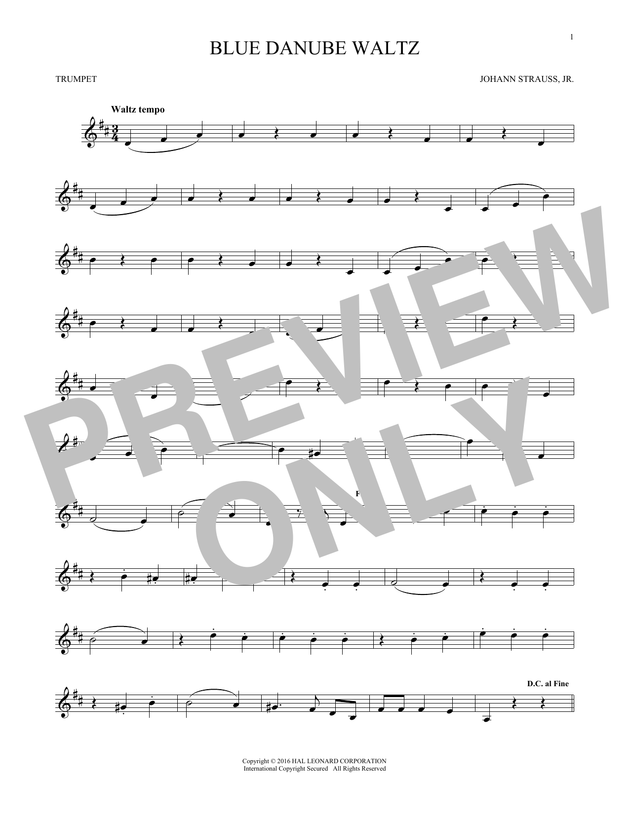Blue Danube Waltz (Trumpet Solo)