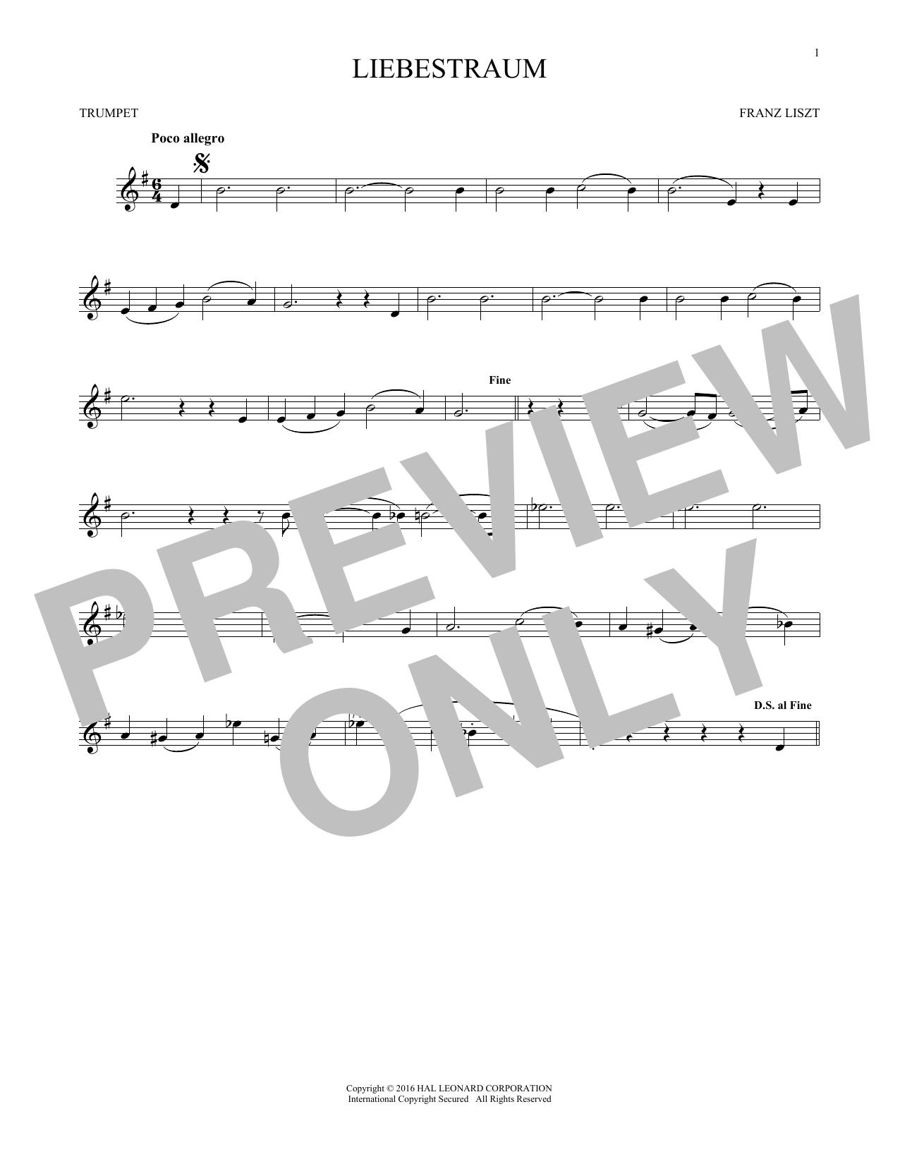 Liebestraum (Dream Of Love) (Trumpet Solo)