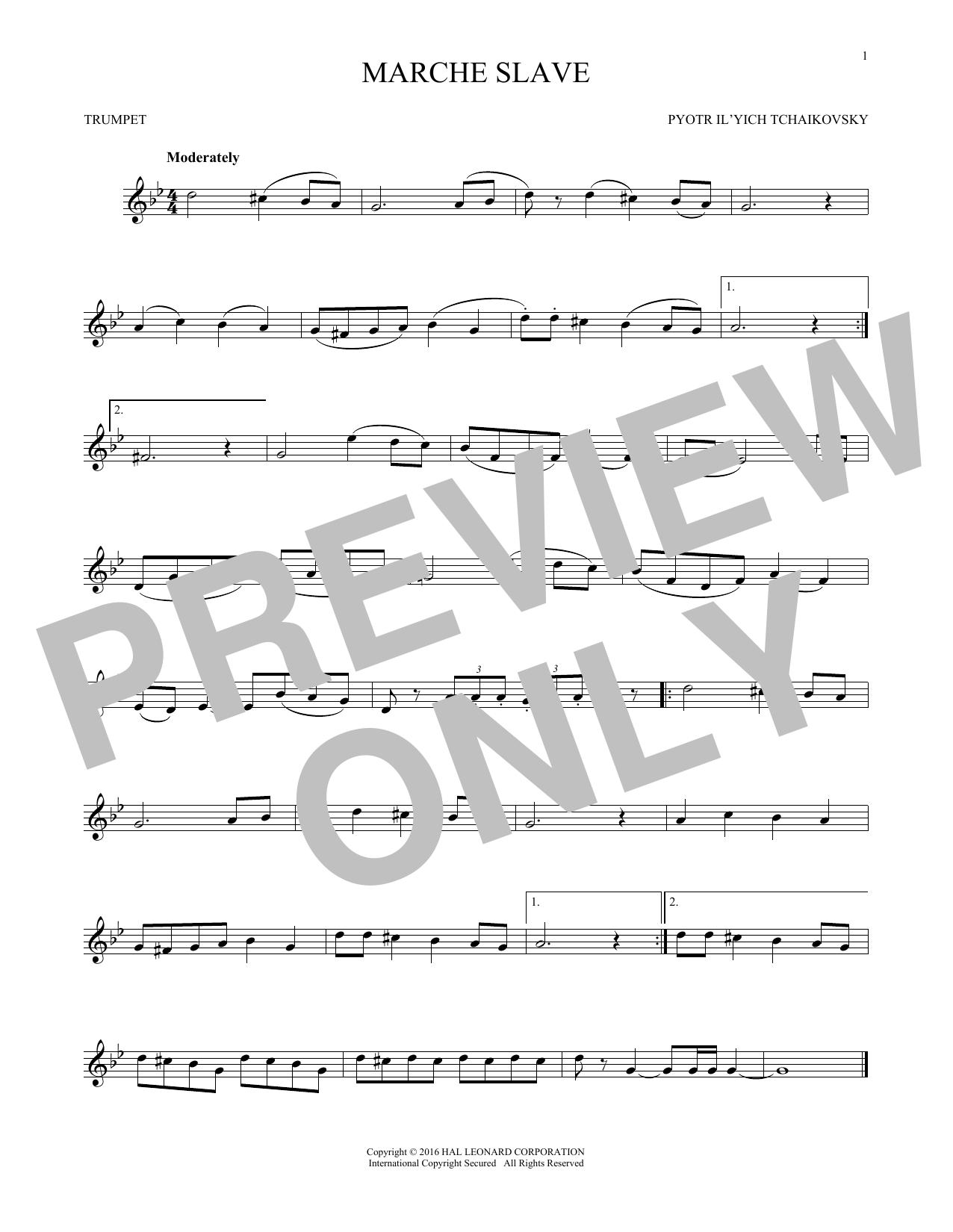 Marche Slav, Op. 31 (Trumpet Solo)
