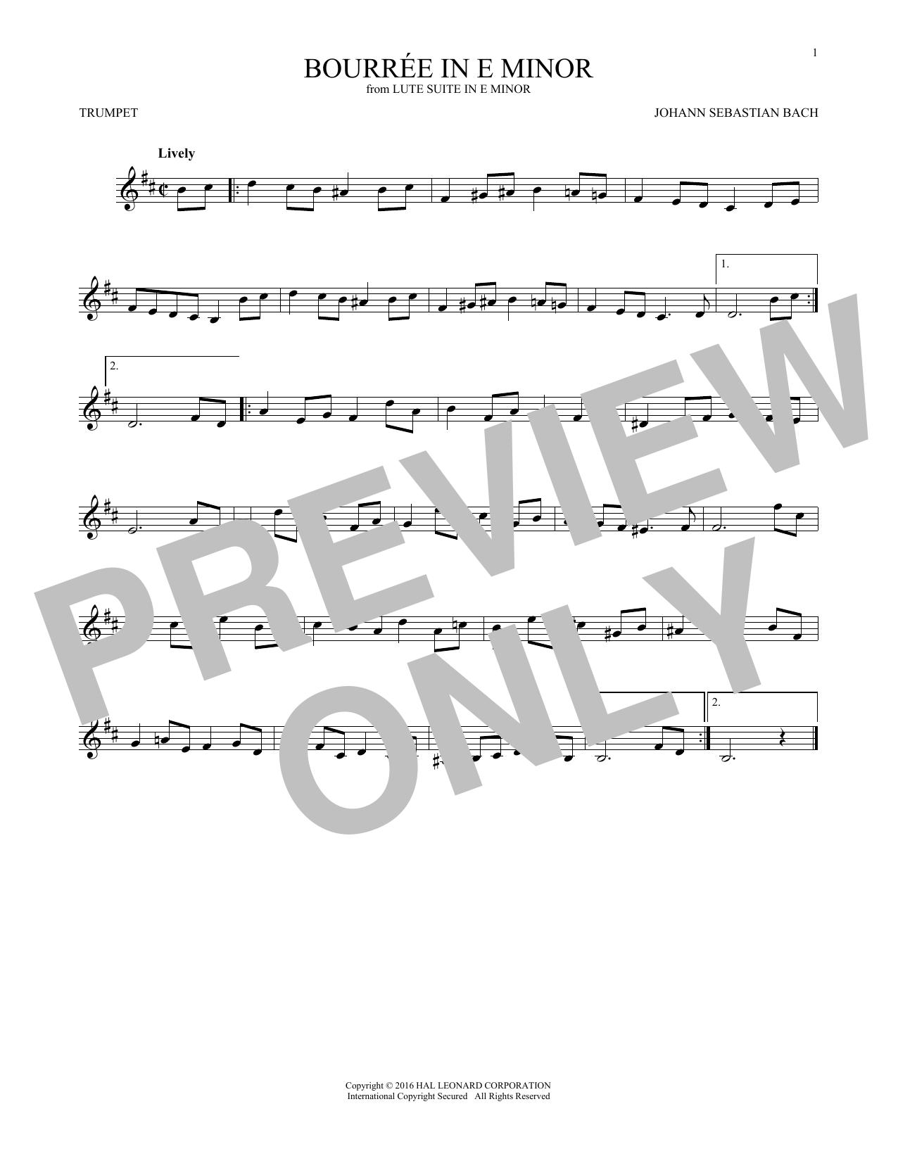 Bourree In E Minor (Trumpet Solo)