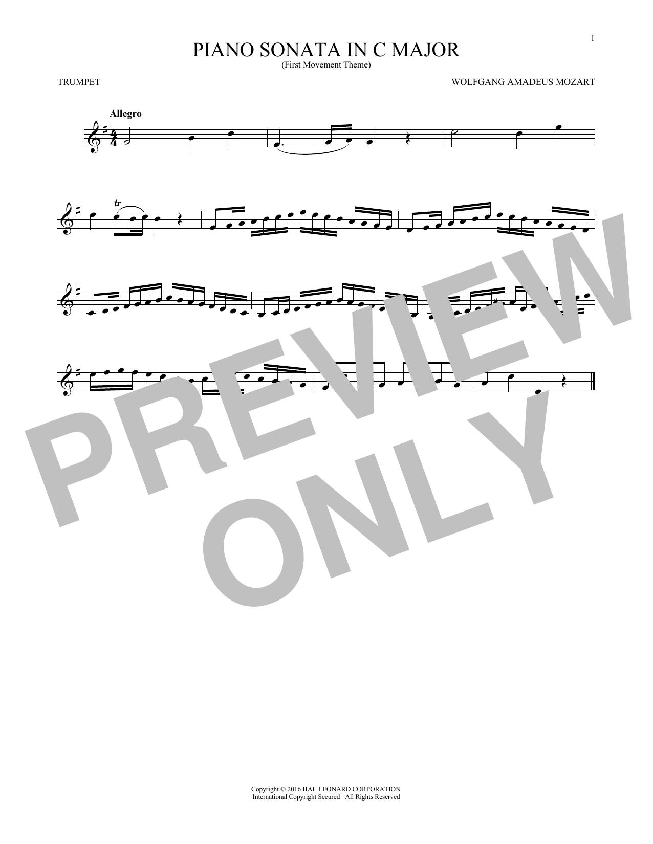 Piano Sonata In C Major (Trumpet Solo)