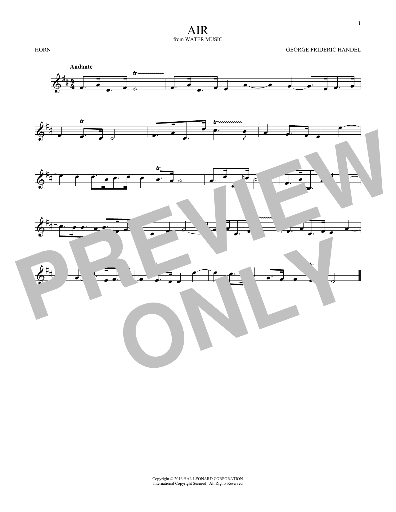 Air (French Horn Solo)