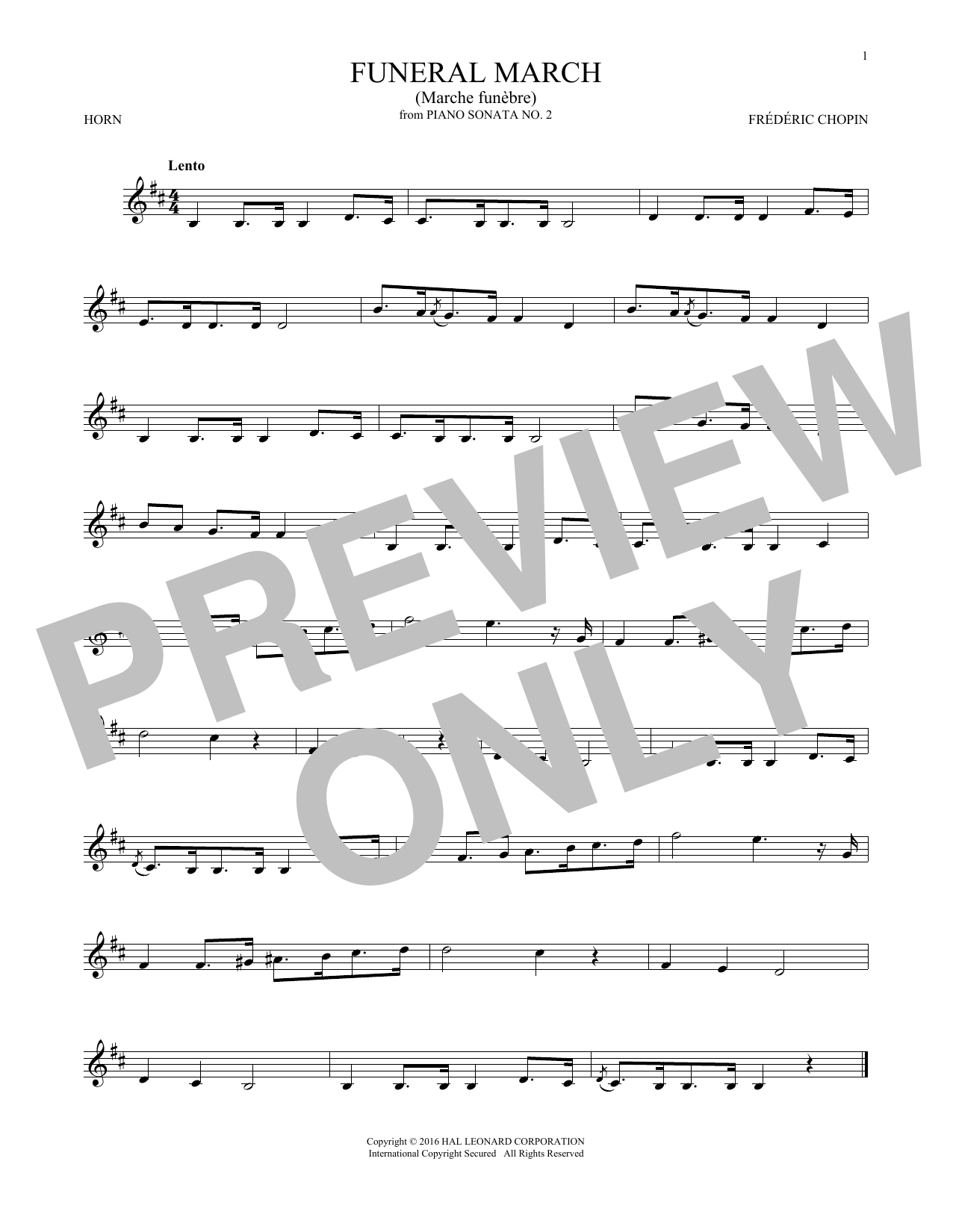 Funeral March (French Horn Solo)