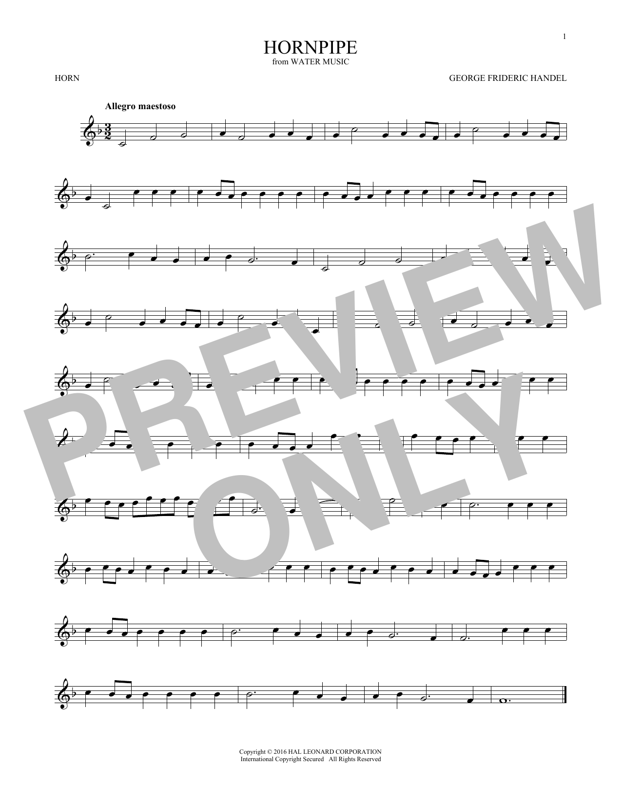 Hornpipe (French Horn Solo)
