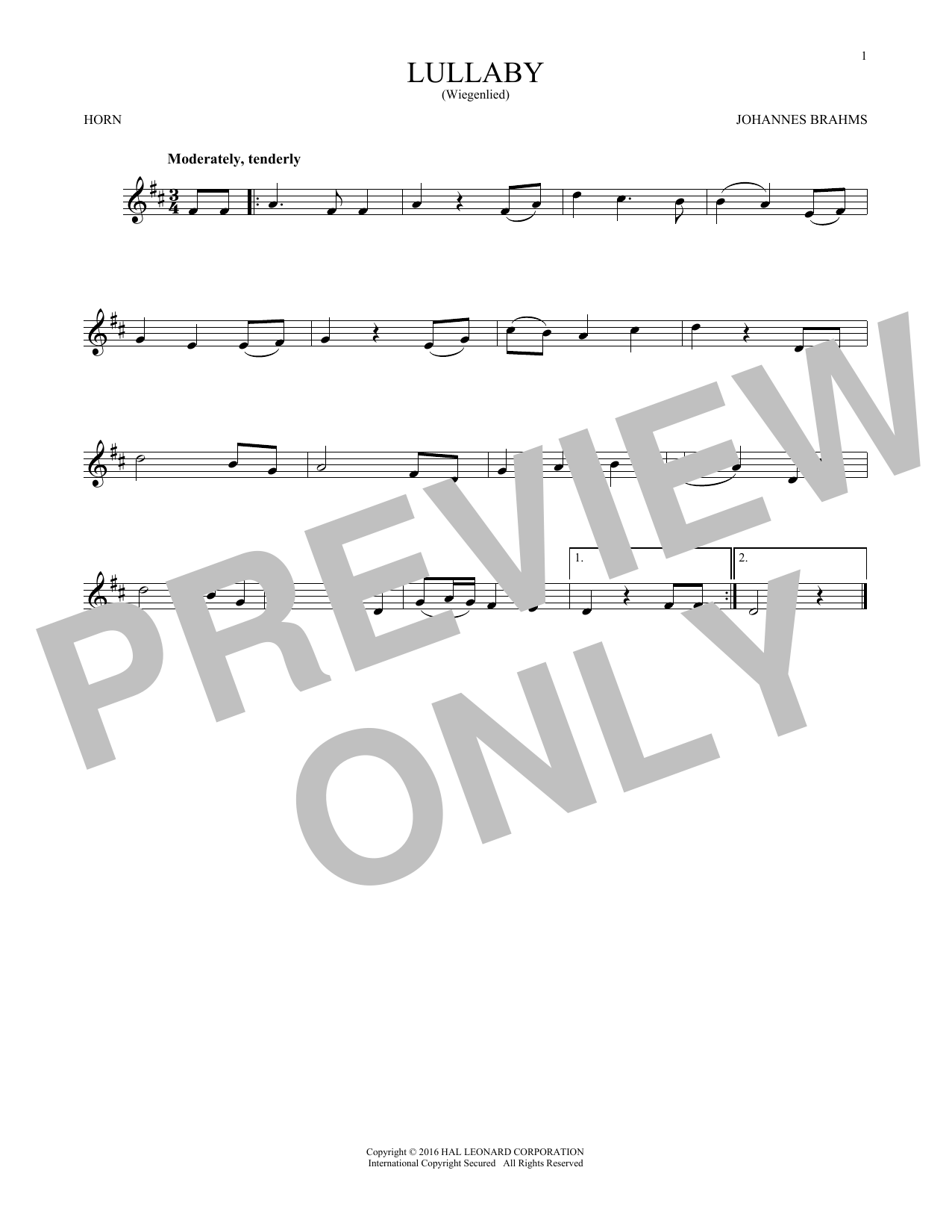 Lullaby (French Horn Solo)