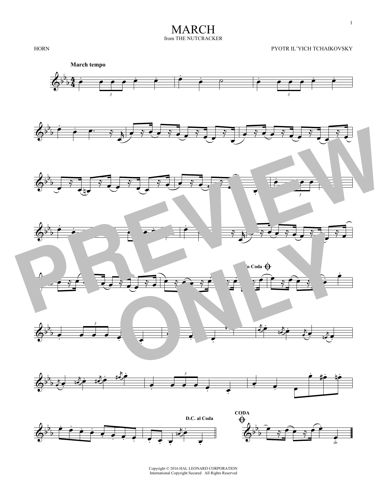 March (French Horn Solo)