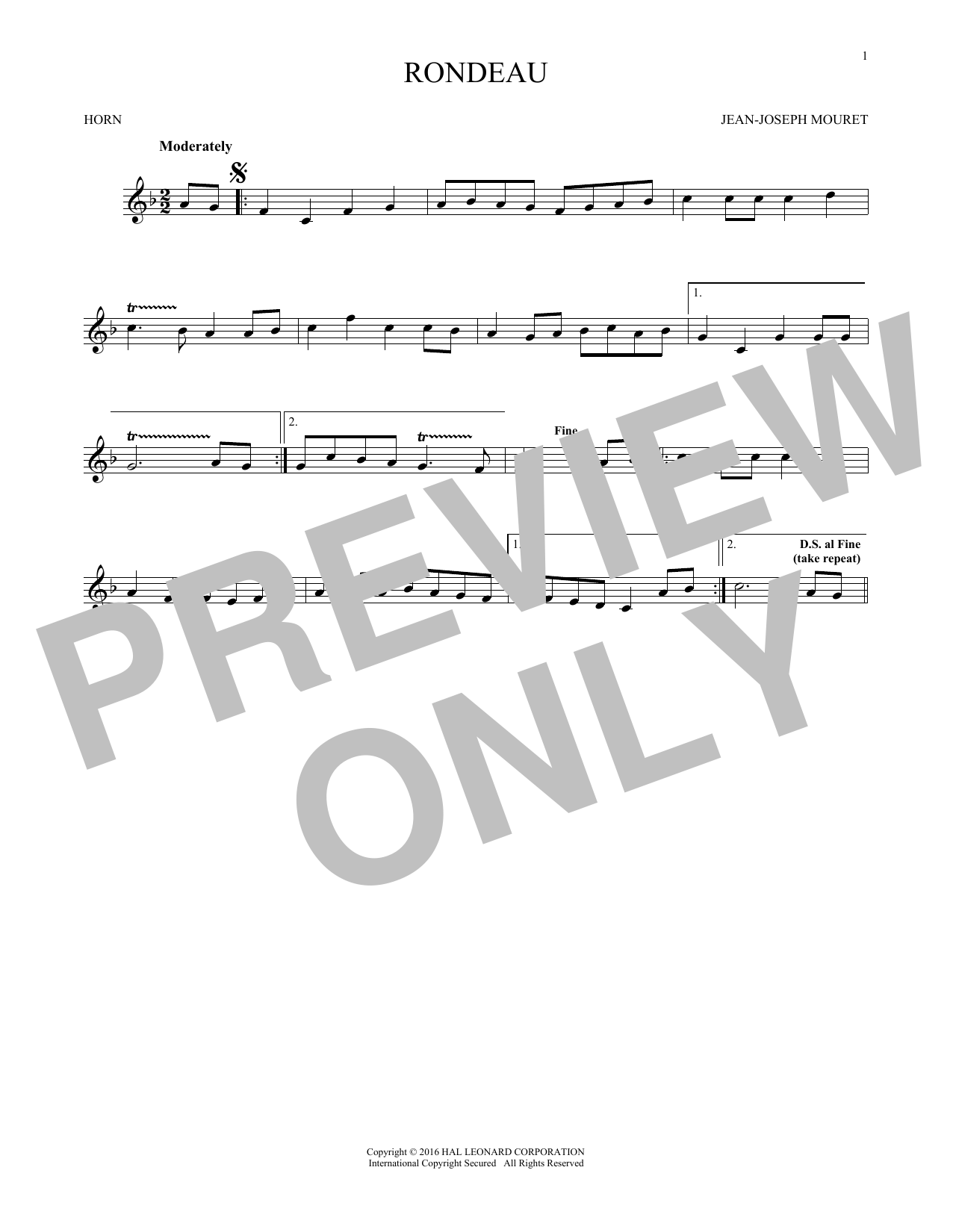 Fanfare Rondeau (French Horn Solo)