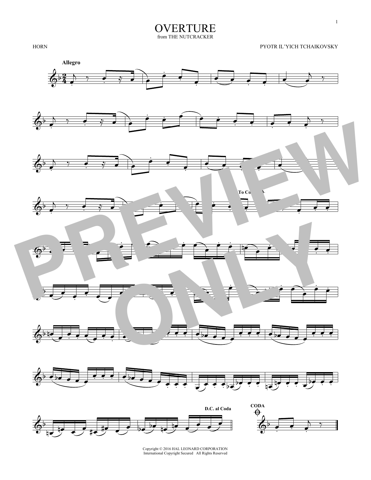 Overture (French Horn Solo)