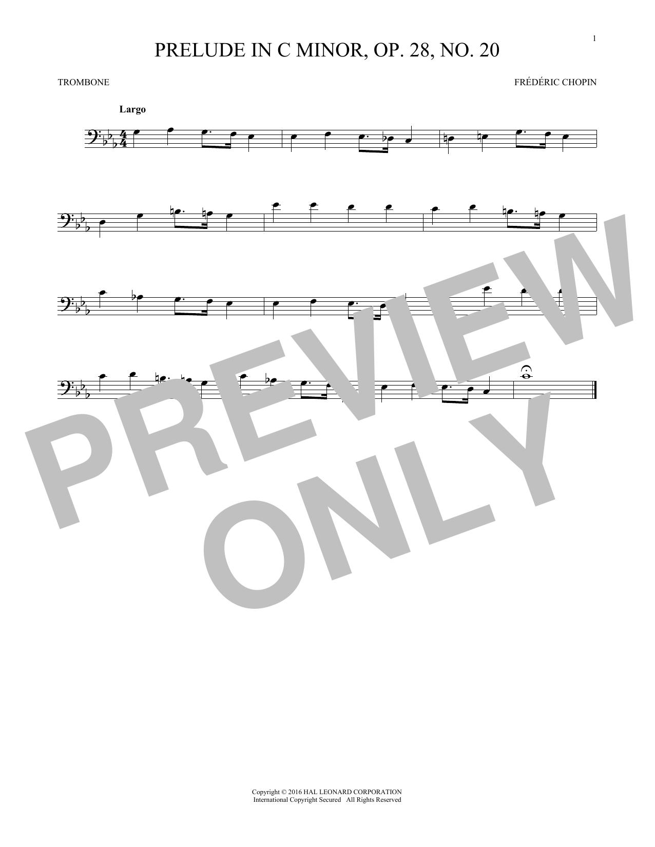 Prelude, Op. 28, No. 20 (Trombone Solo)